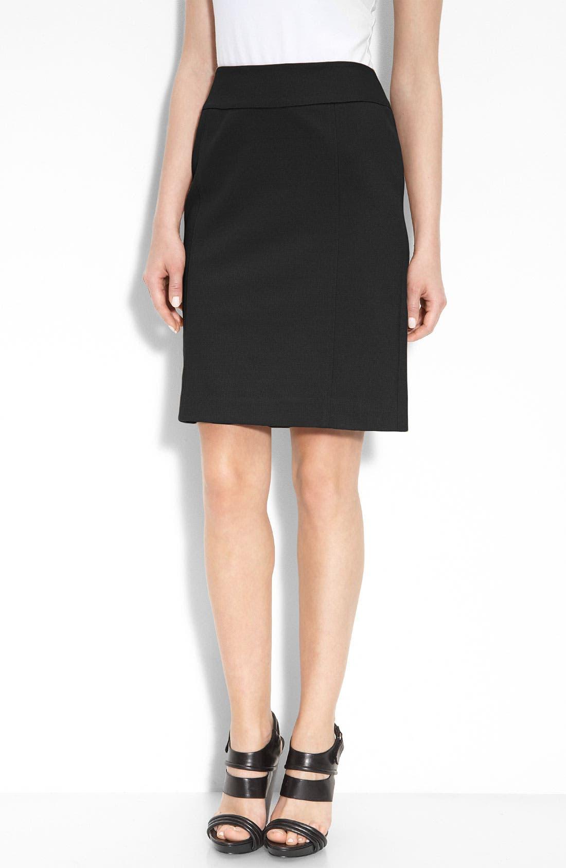 Main Image - Halogen® Ponte Knit Pencil Skirt