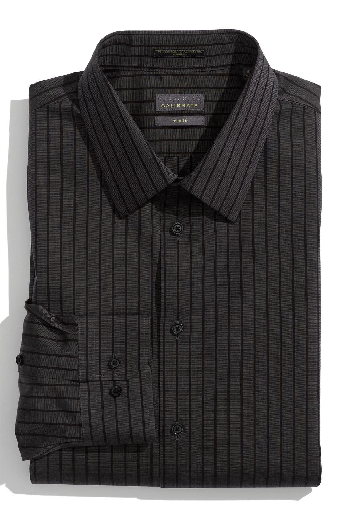 Alternate Image 1 Selected - Calibrate Non Iron Trim Fit Dress Shirt