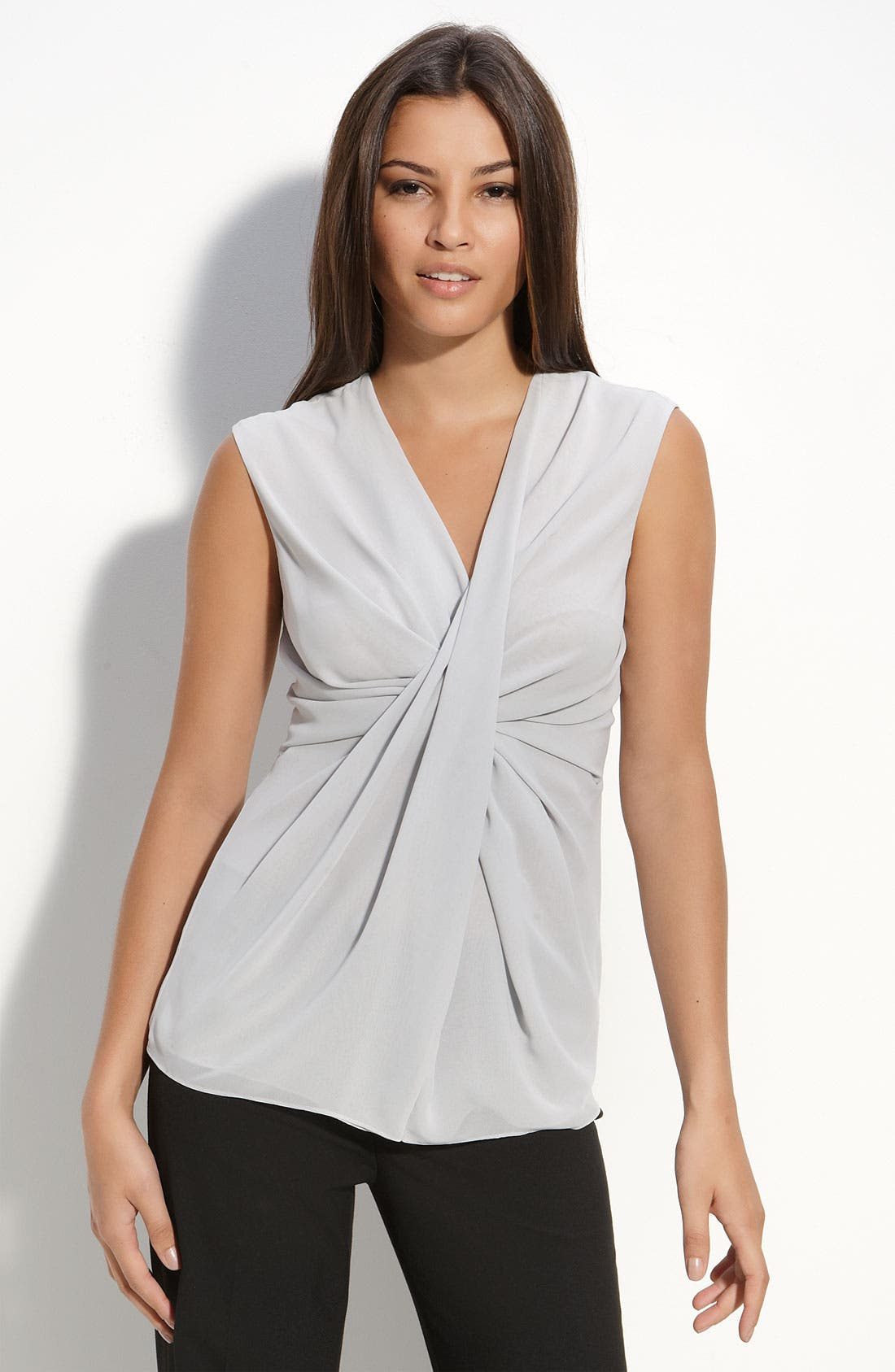 Alternate Image 1 Selected - MICHAEL Michael Kors Gathered Twist Sleeveless Top