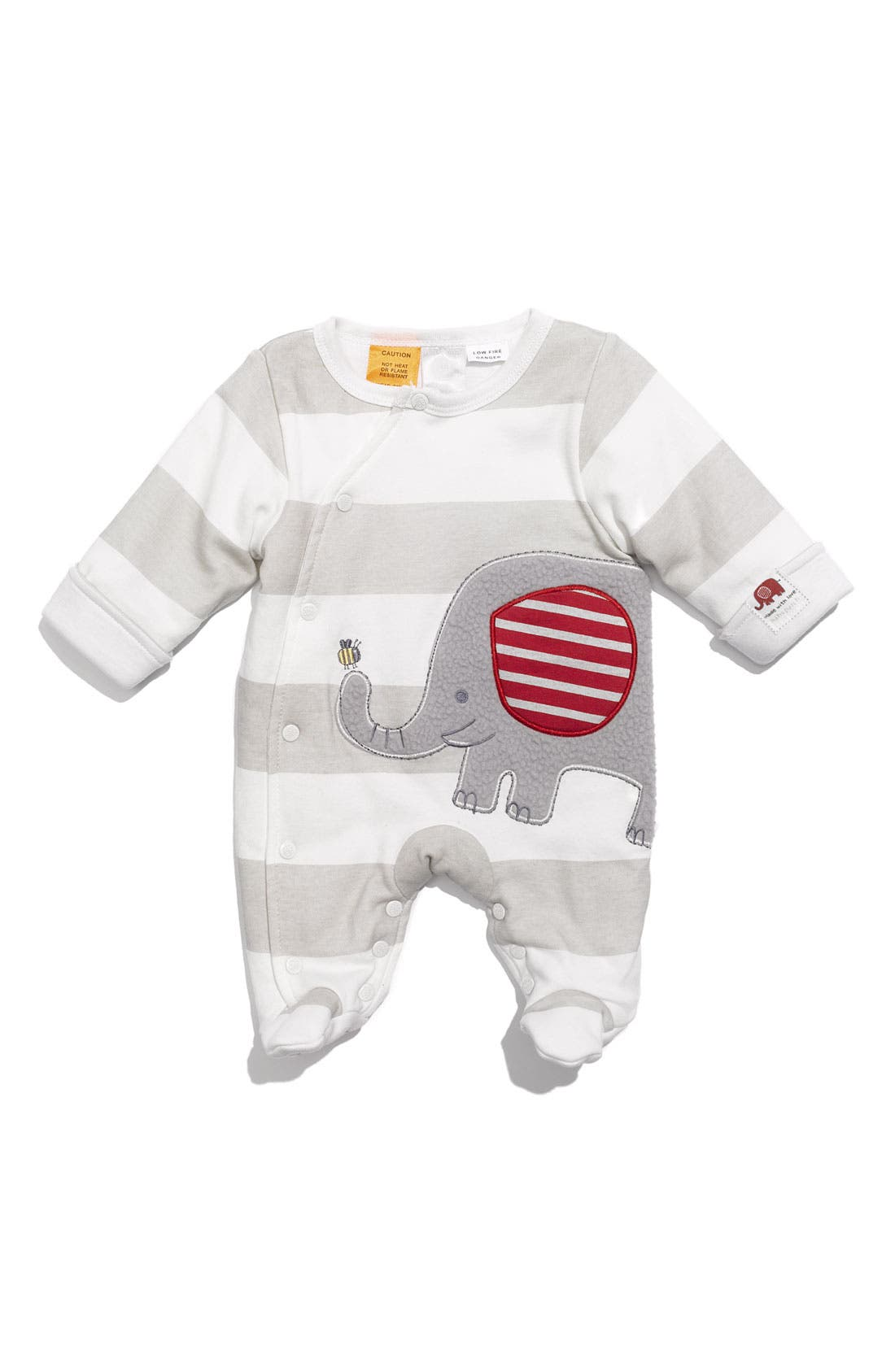 Alternate Image 1 Selected - Pumpkin Patch 'Elephant' Padded Footie (Infant)
