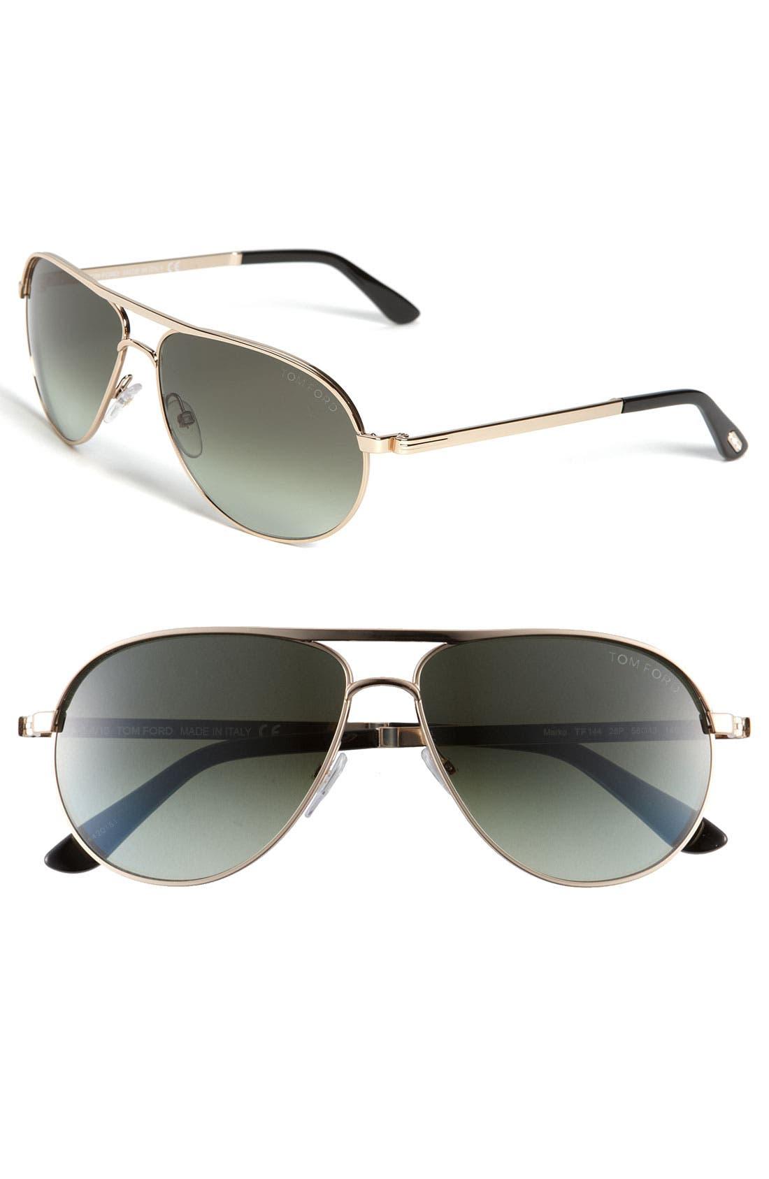 Alternate Image 1 Selected - Tom Ford 'Marko' 58mm Metal Aviator Sunglasses