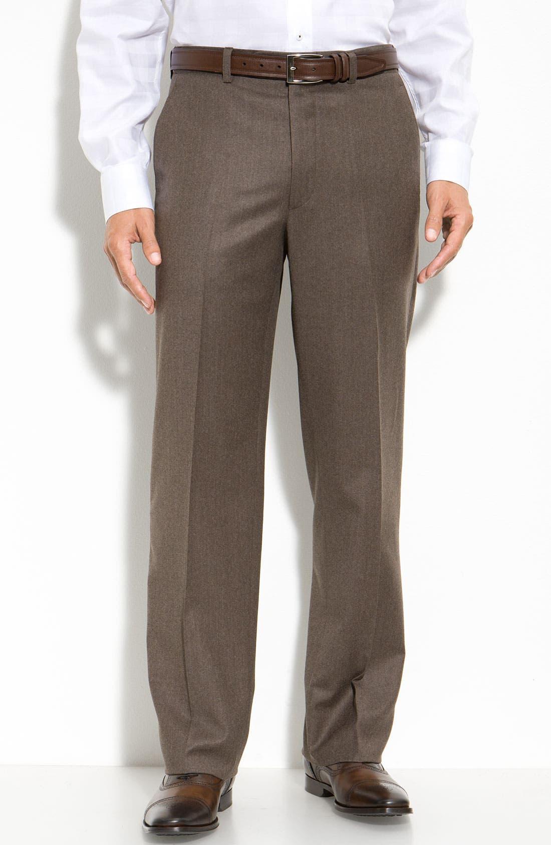Main Image - Linea Naturale 'Hawk' Wool & Cashmere Pants