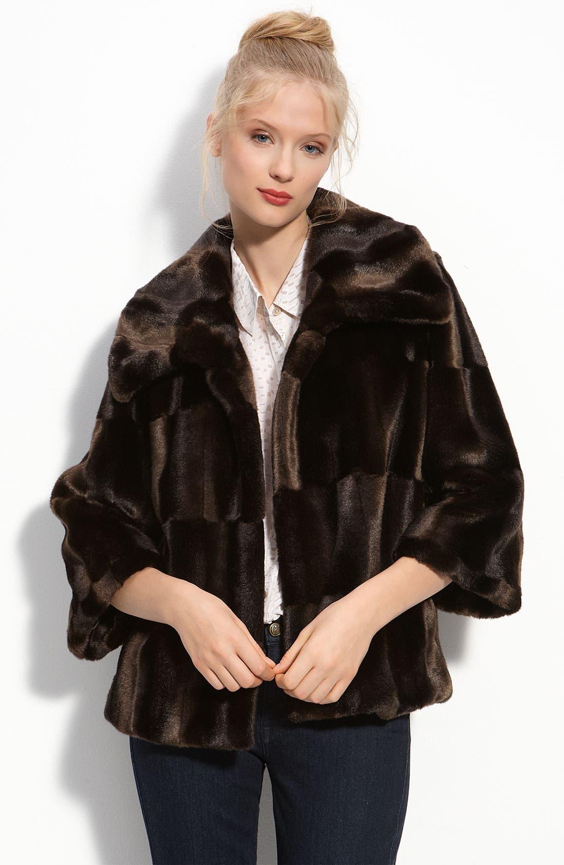 Alternate Image 1 Selected - Tahari 'Tara' Faux Fur Coat