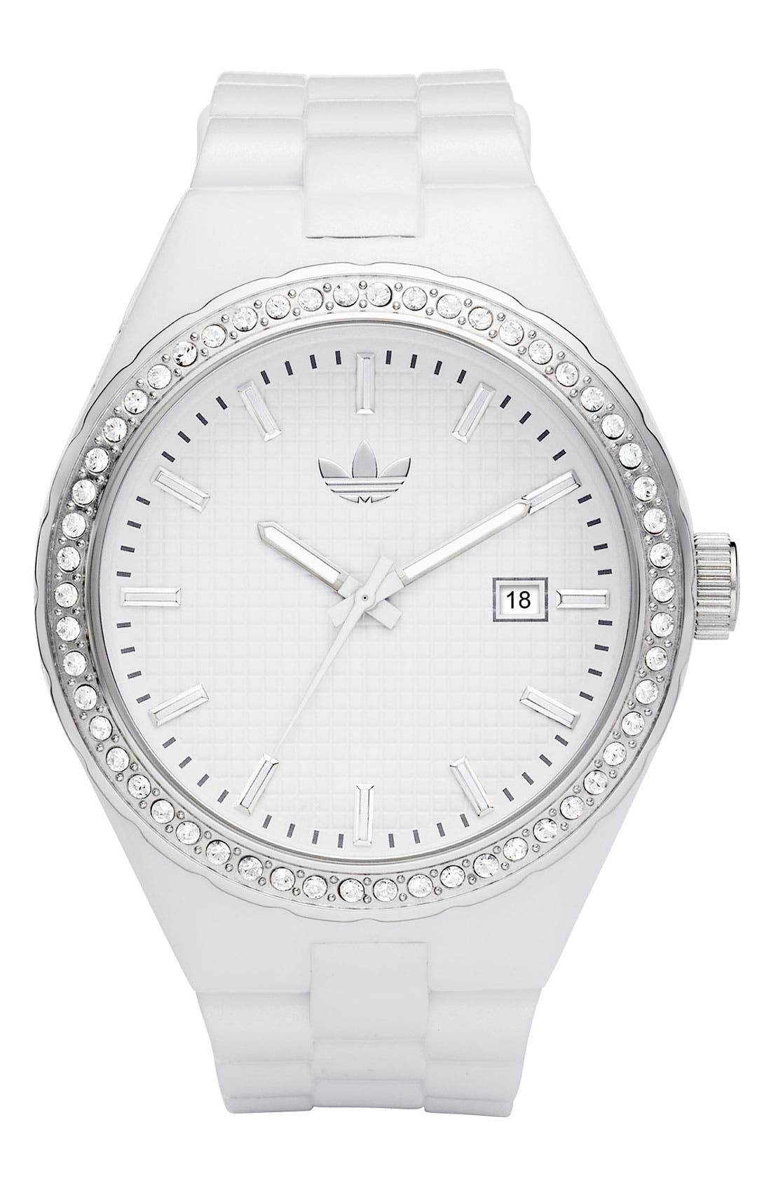 Alternate Image 1 Selected - adidas Originals 'Cambridge' Crystal Accent Watch, 44mm