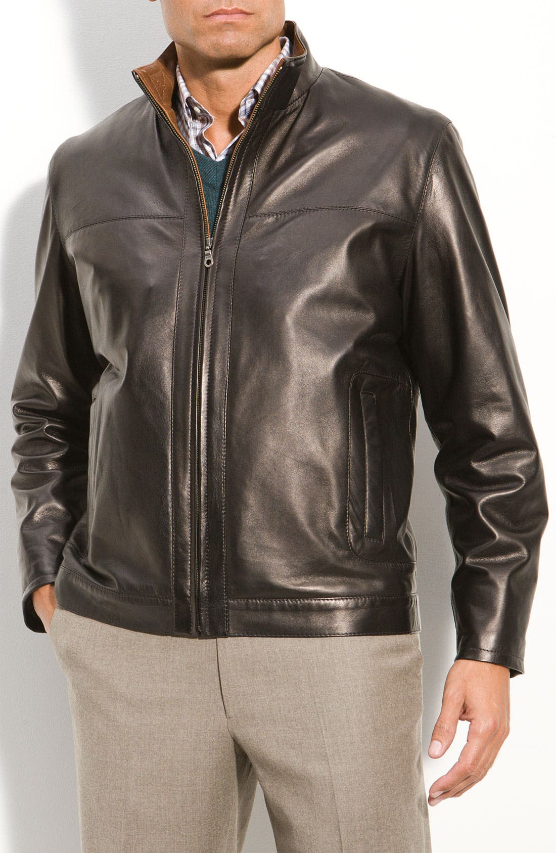 Main Image - Remy Leather Washed Lambskin Leather Jacket