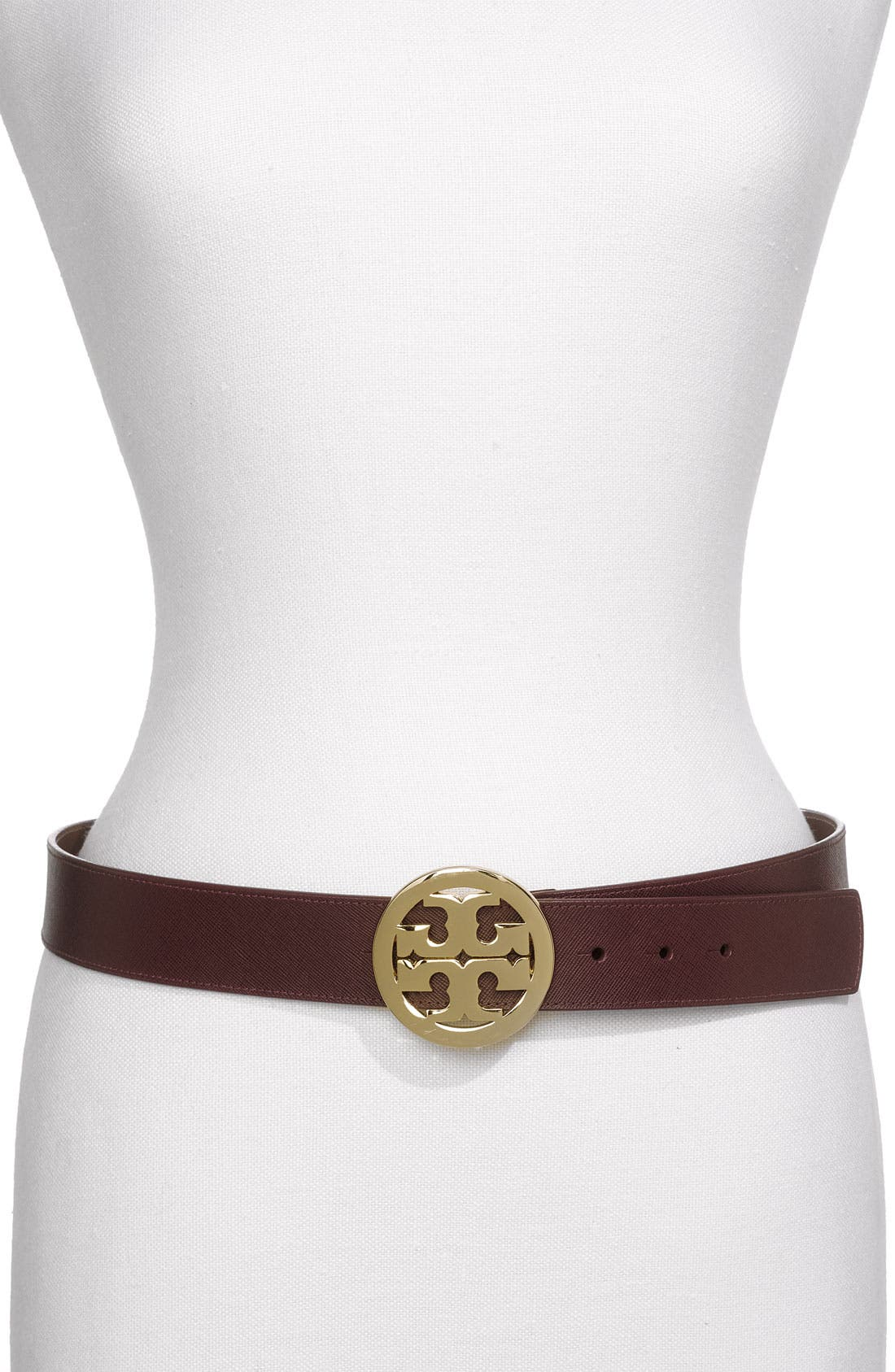 Alternate Image 1 Selected - Tory Burch Logo Belt