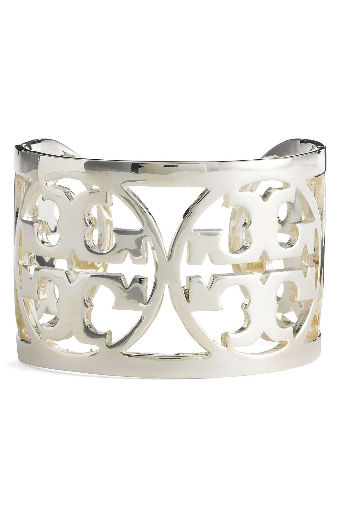 Alternate Image 1 Selected - Tory Burch Curved Logo Cuff