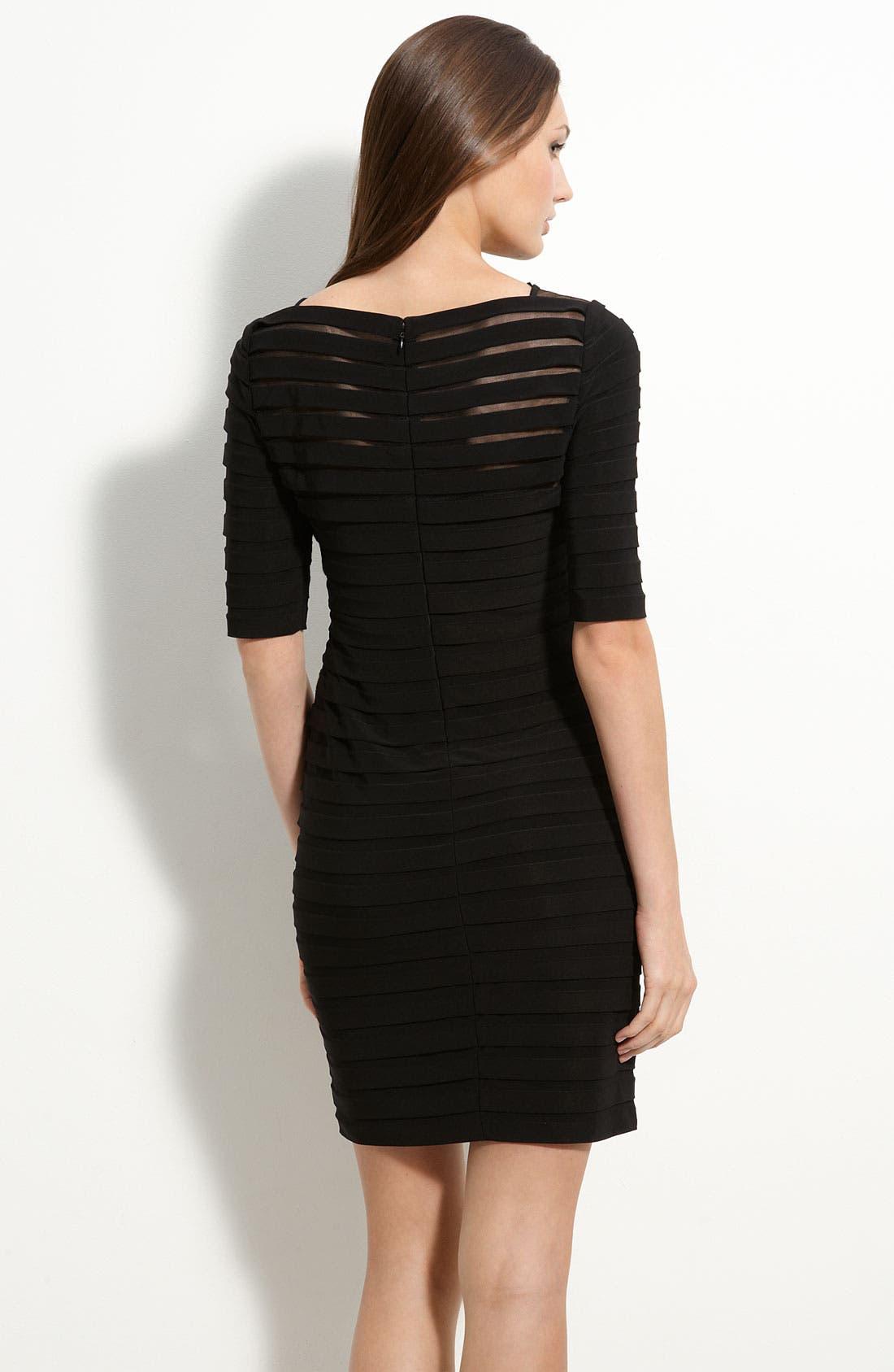 Alternate Image 2  - Adrianna Papell Pleated Illusion Sheath Dress (Regular & Petite)