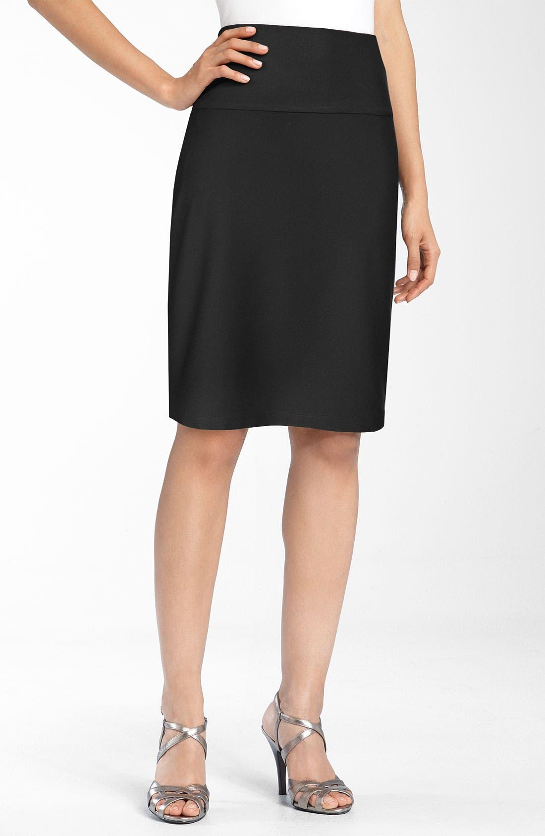 Main Image - Eileen Fisher Knit Pencil Skirt (Petite)