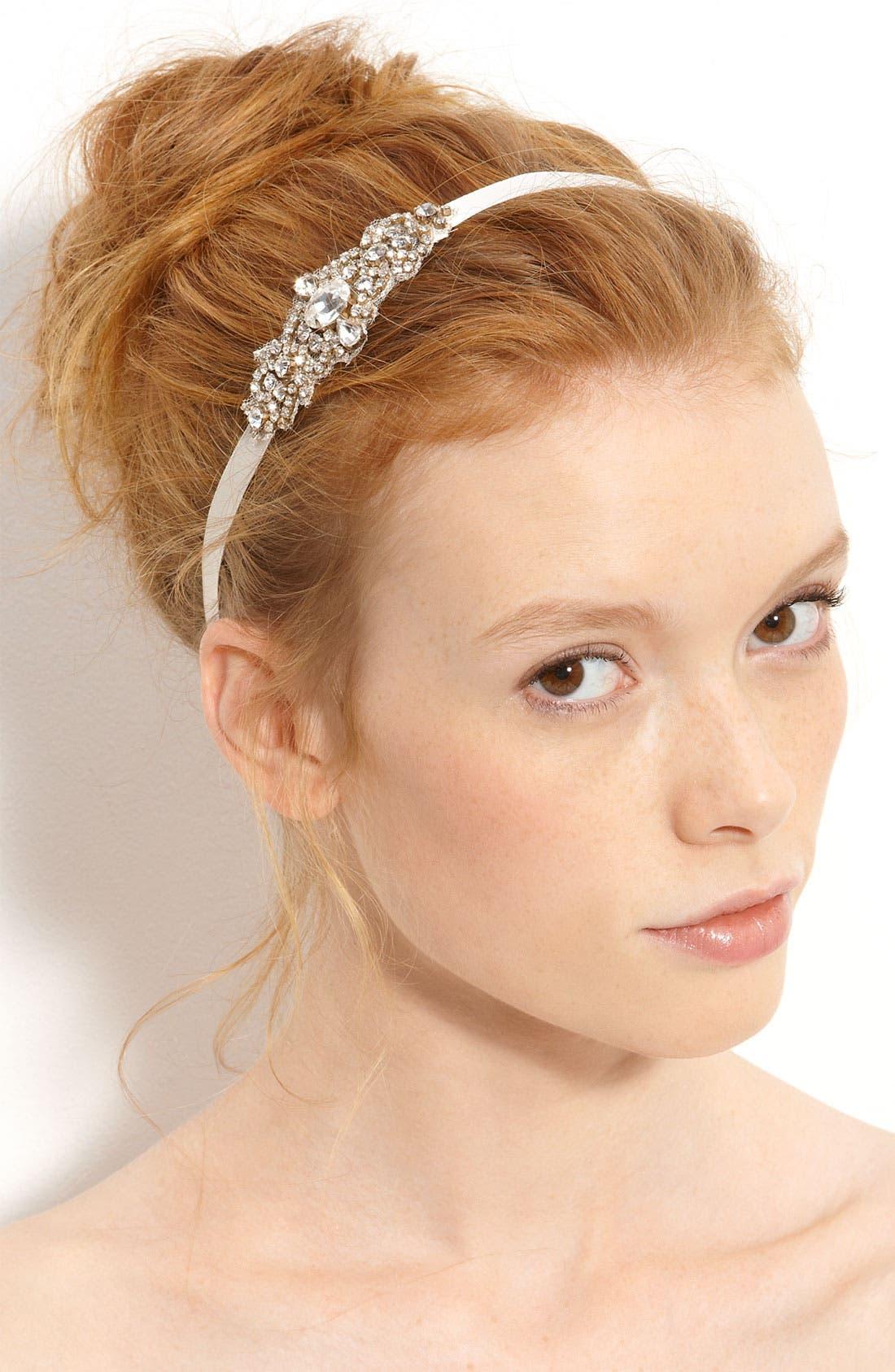 Main Image - Nina 'Cece' Crystal Ribbon Head Wrap