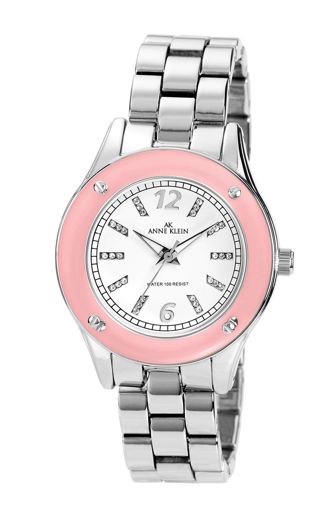 Alternate Image 1 Selected - Anne Klein 'Breast Cancer Awareness' Bracelet Watch