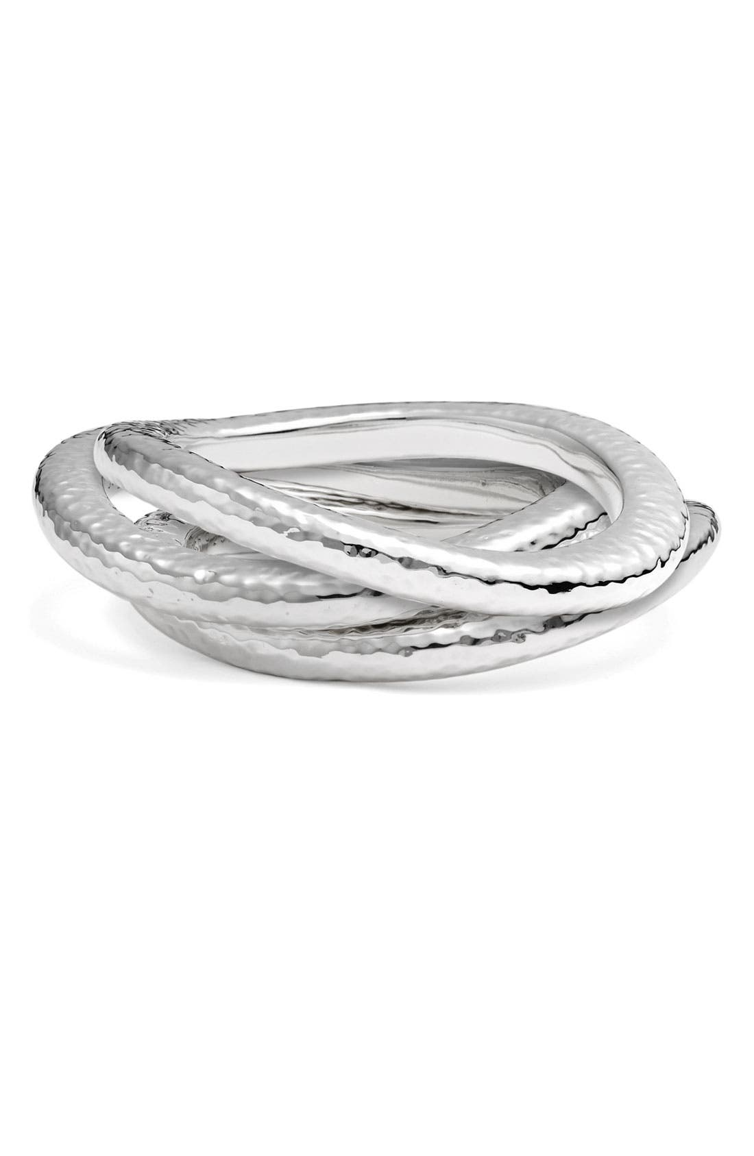 Alternate Image 2  - Simon Sebbag Hammered Skinny Wavy Bangle