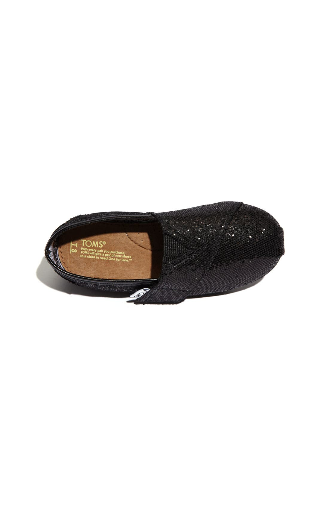 Alternate Image 3  - TOMS 'Classic Tiny - Glitter' Slip-On (Baby, Walker & Toddler)