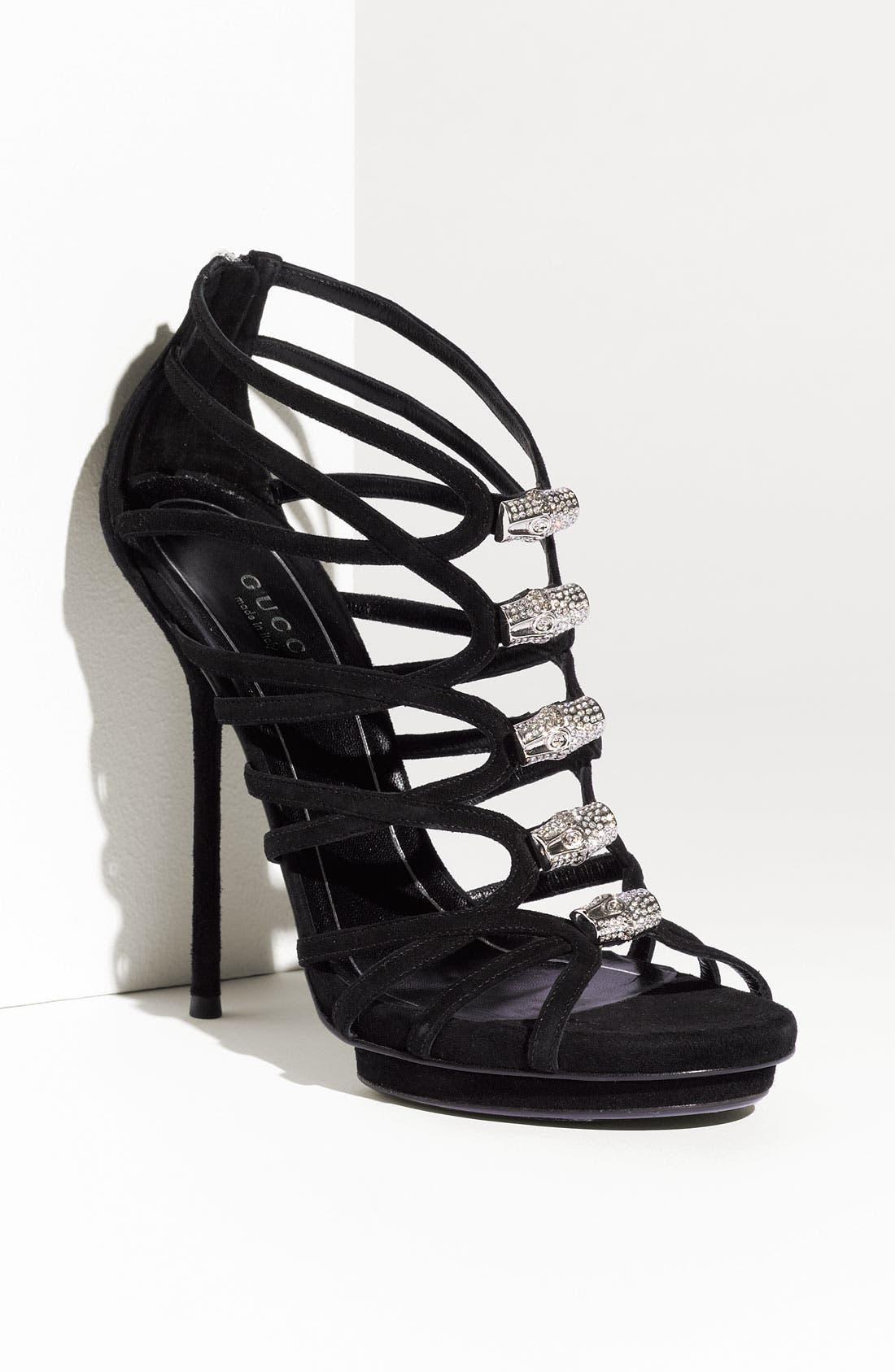 Main Image - Gucci 'Jenna' Caged Platform Sandal
