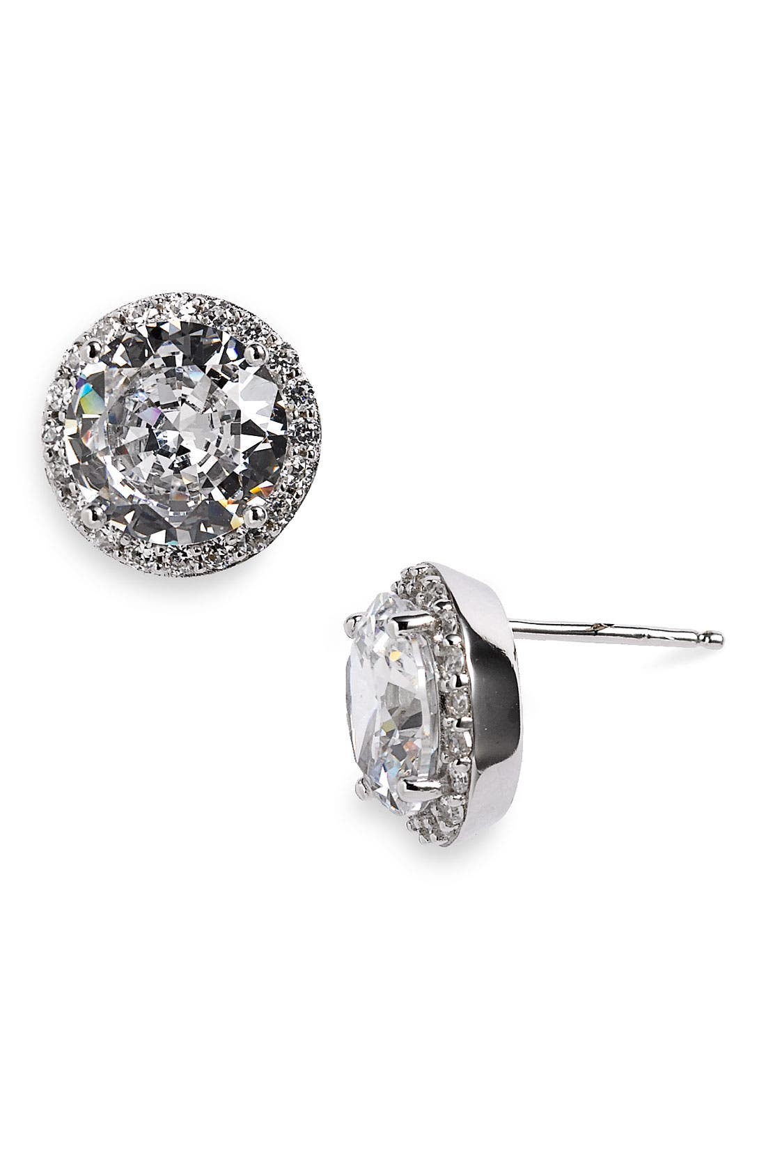 Main Image - Nordstrom Round Pavé Stone Stud Earrings