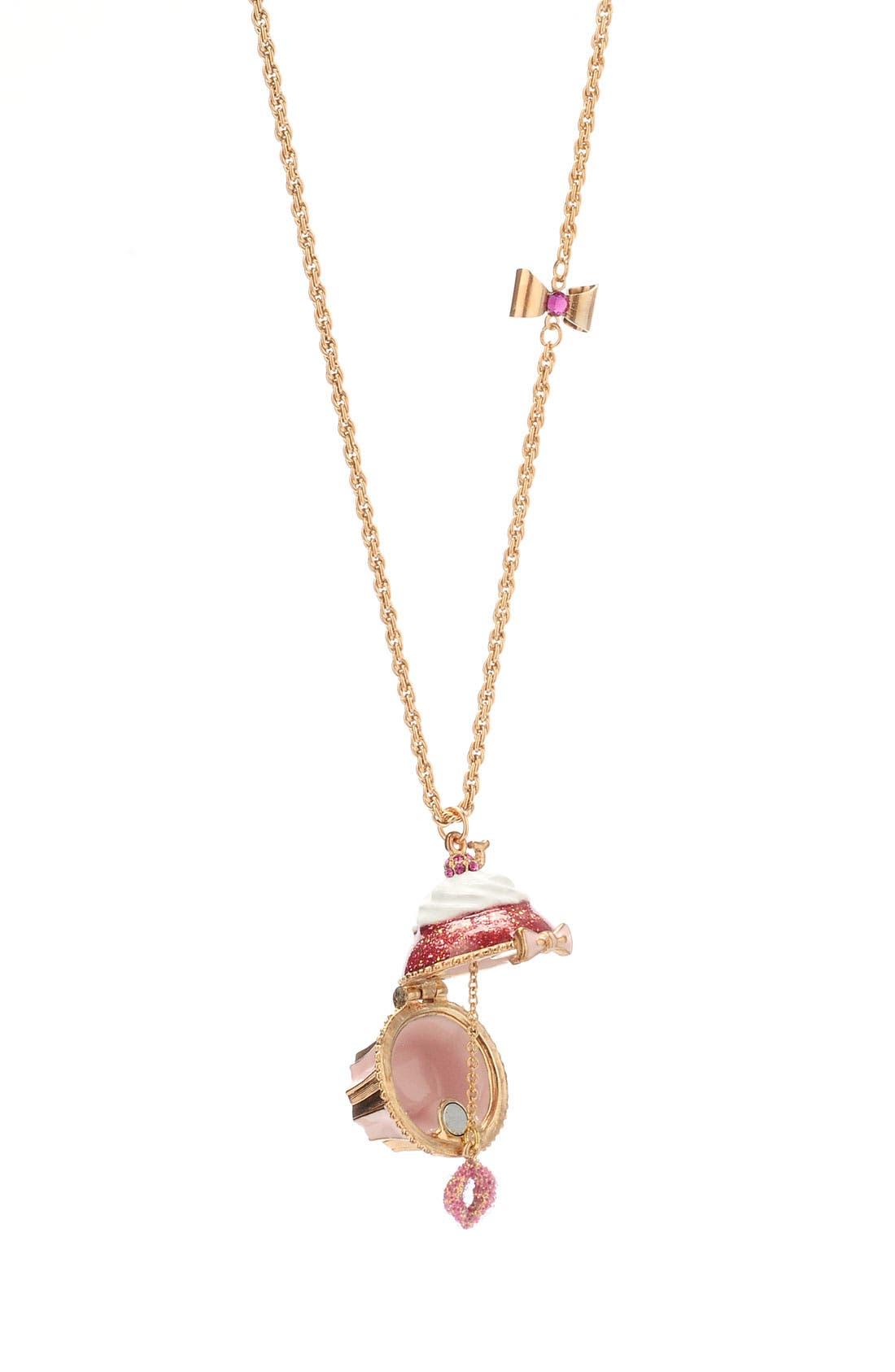 Alternate Image 2  - Betsey Johnson 'Tzar' Cupcake Pendant Long Necklace