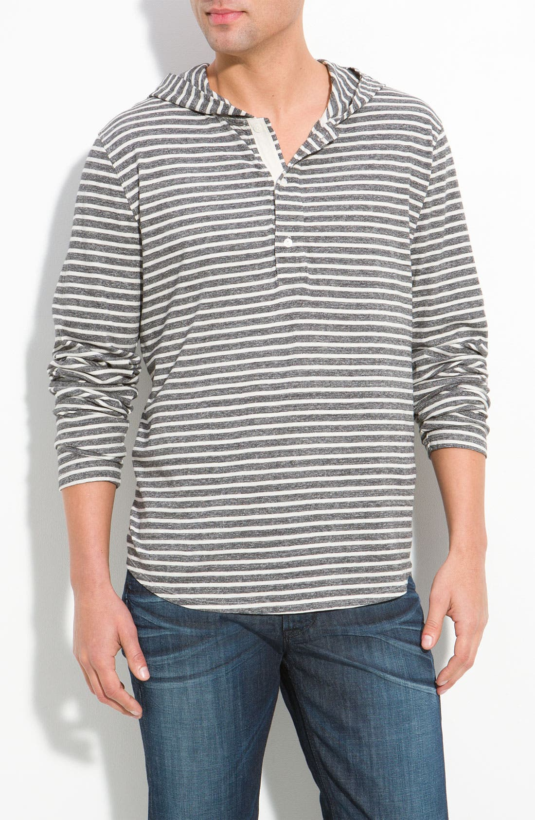 Main Image - NSF Clothing 'Stokes' Stripe Henley Hoodie