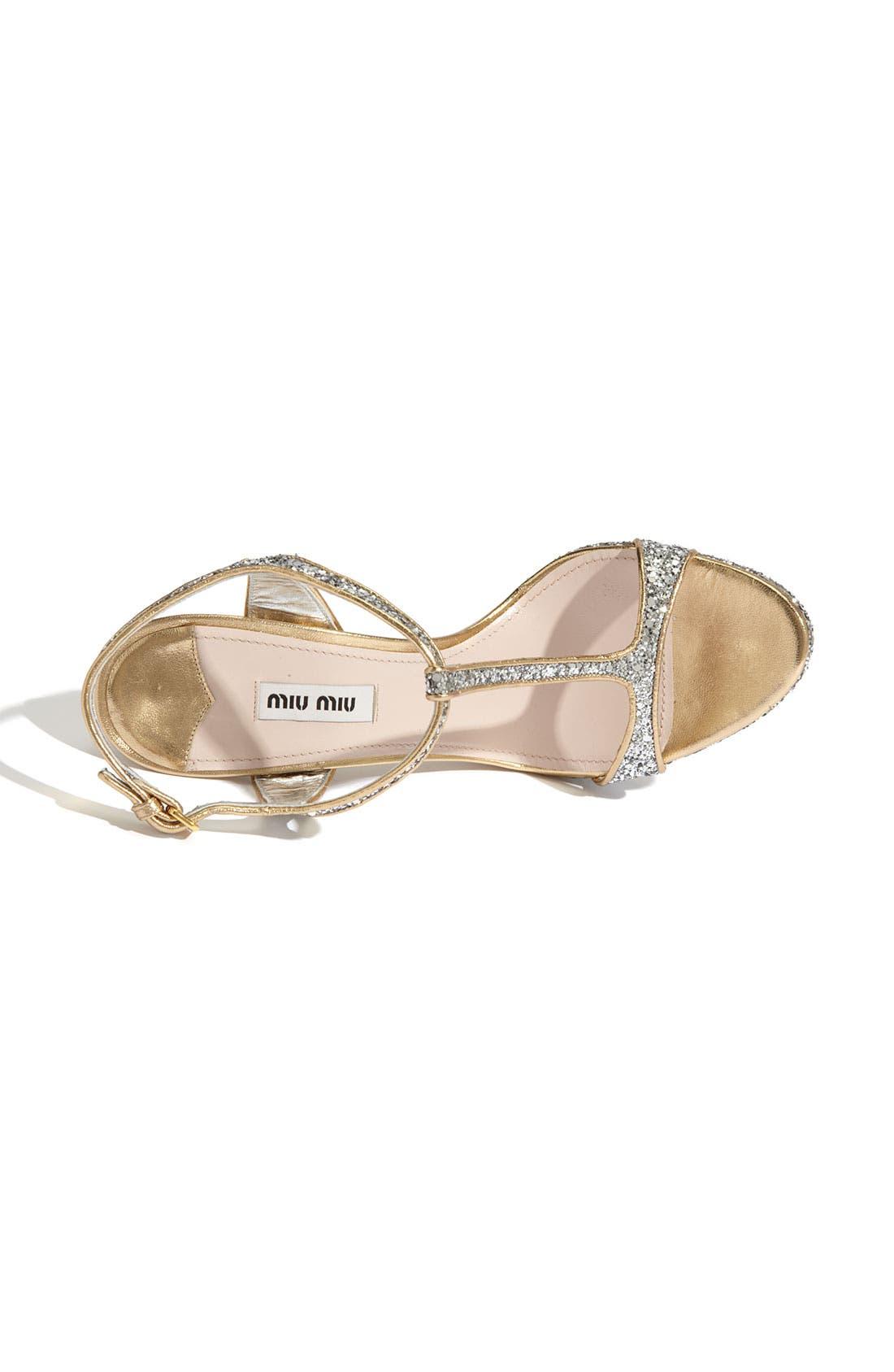 Alternate Image 3  - Miu Miu Glitter T-Strap Platform Sandal