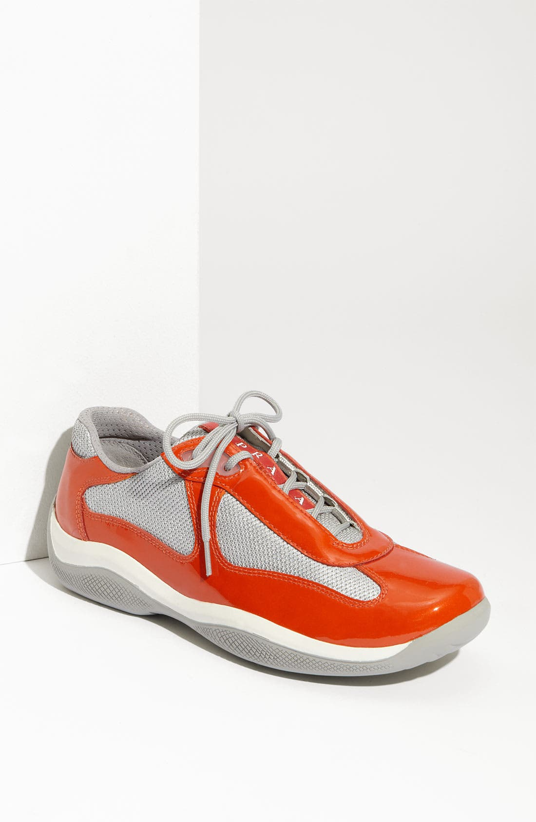 Alternate Image 1 Selected - Prada Patent Leather & Mesh Sneaker