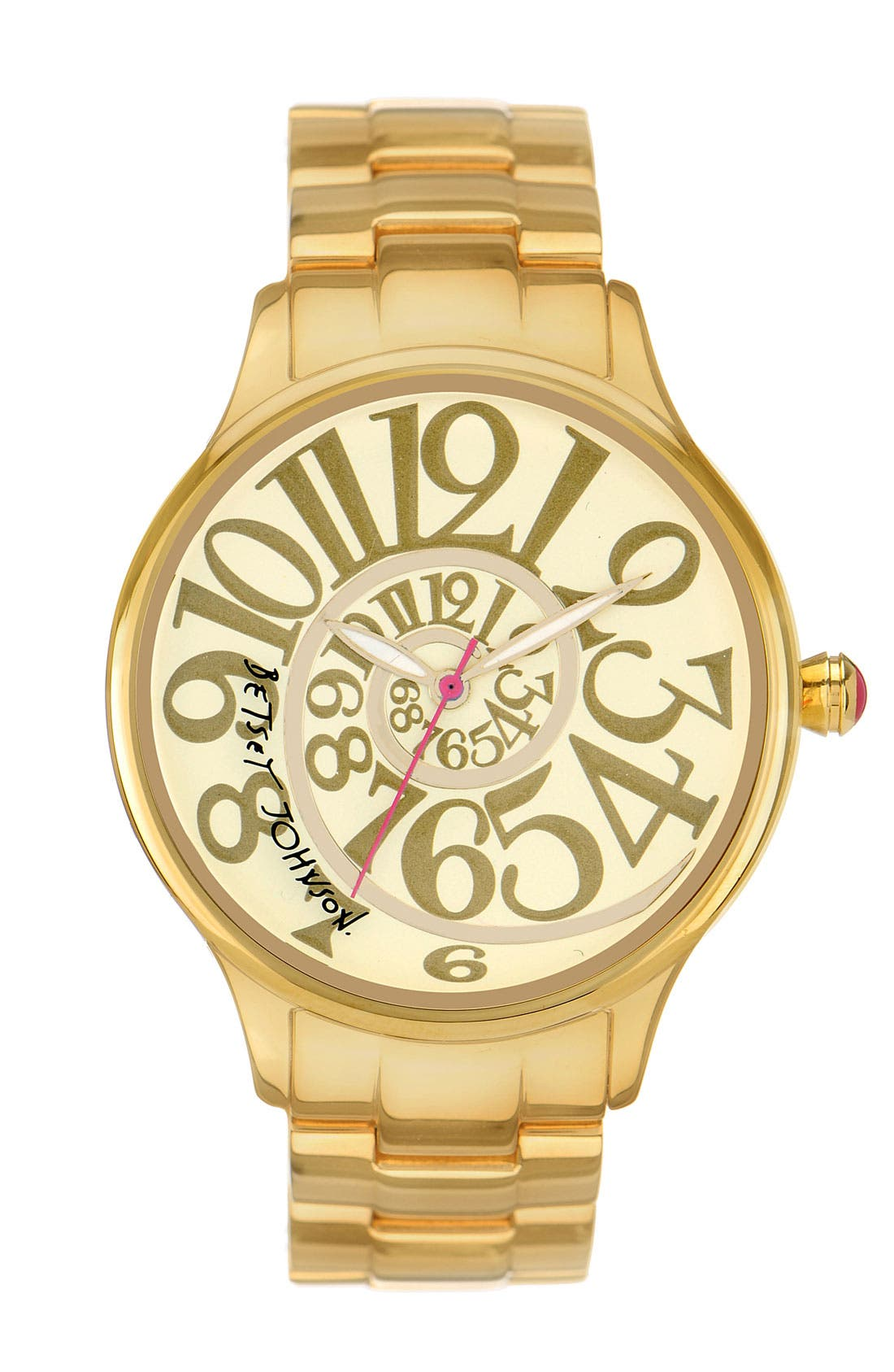 Alternate Image 1 Selected - Betsey Johnson 'Lots 'n' Lots of Time' Swirl Dial Watch