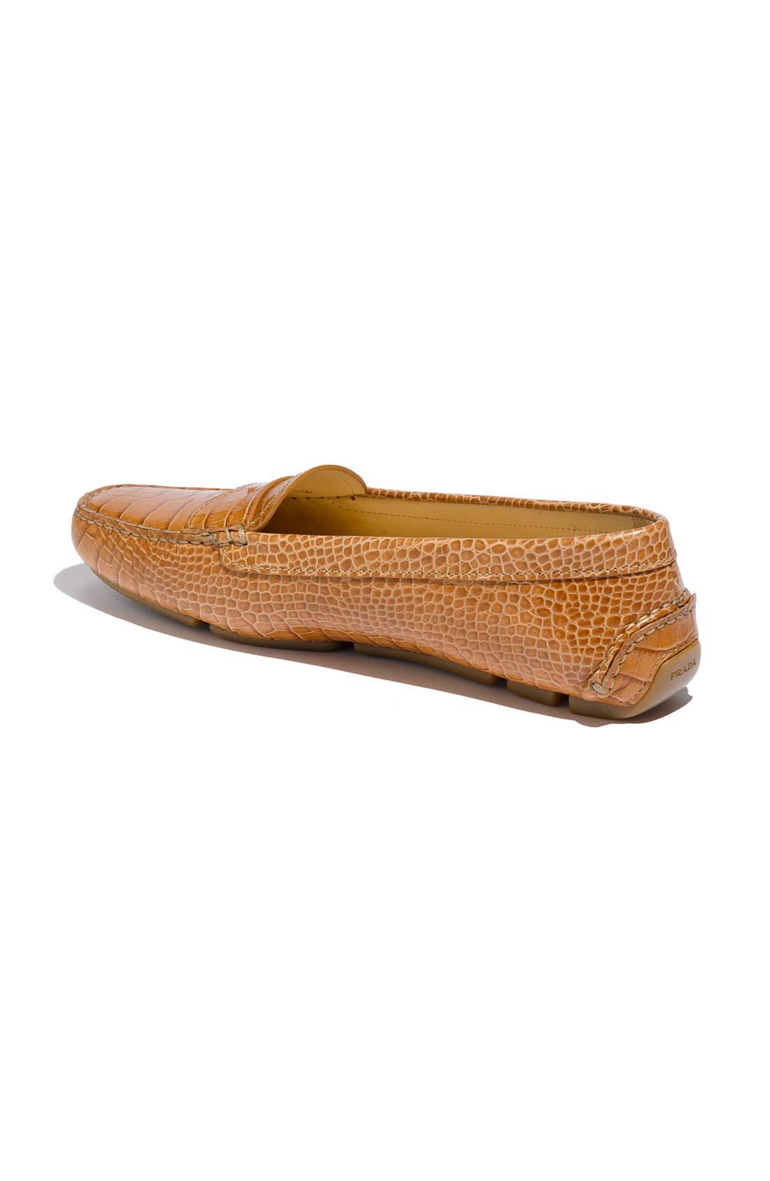 Alternate Image 2  - Prada Snake Stamped Leather Driving Moccasin