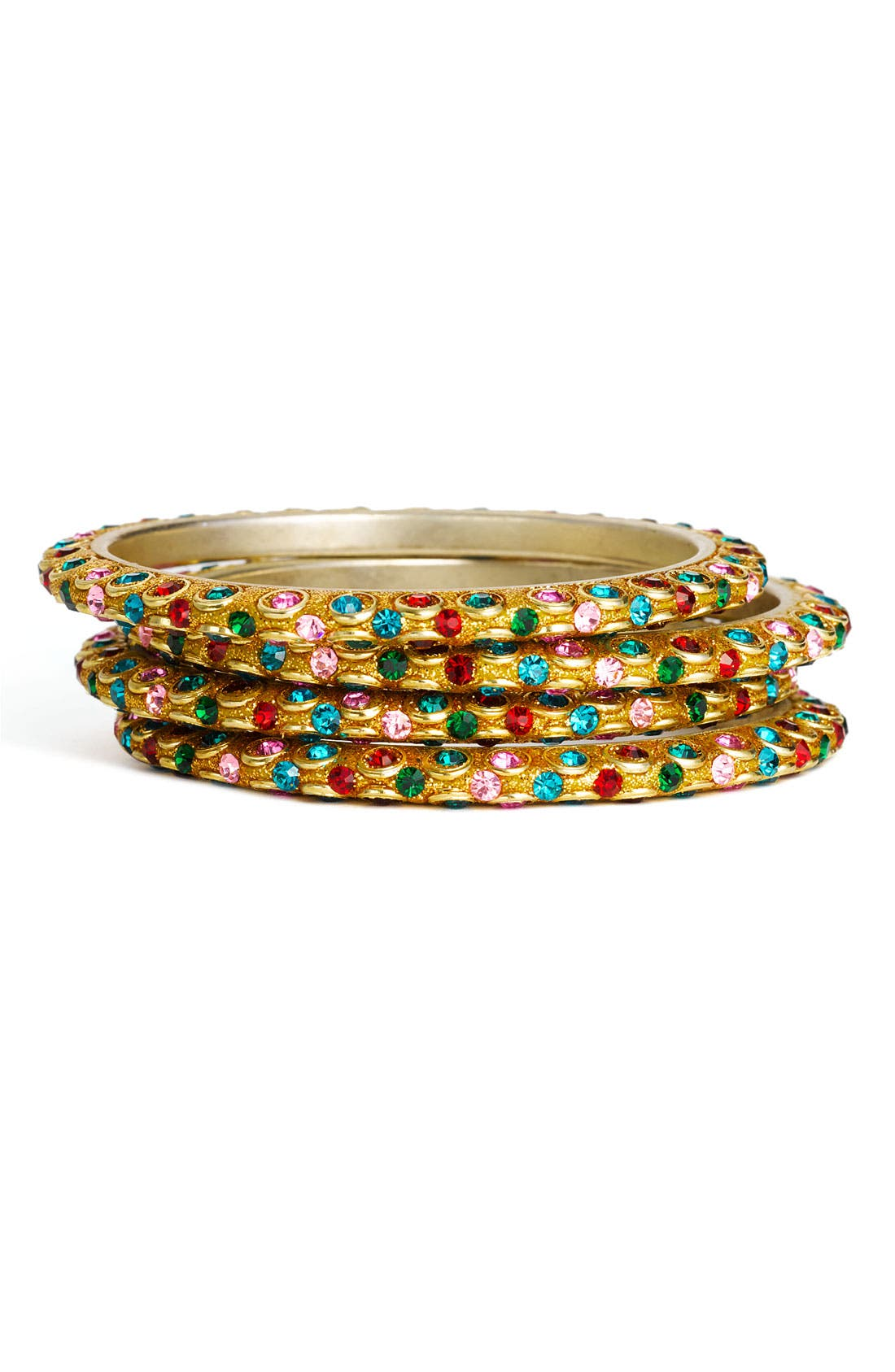 Alternate Image 1 Selected - Chamak by Priya Kakkar Multicolor Bangles (Set of 4)