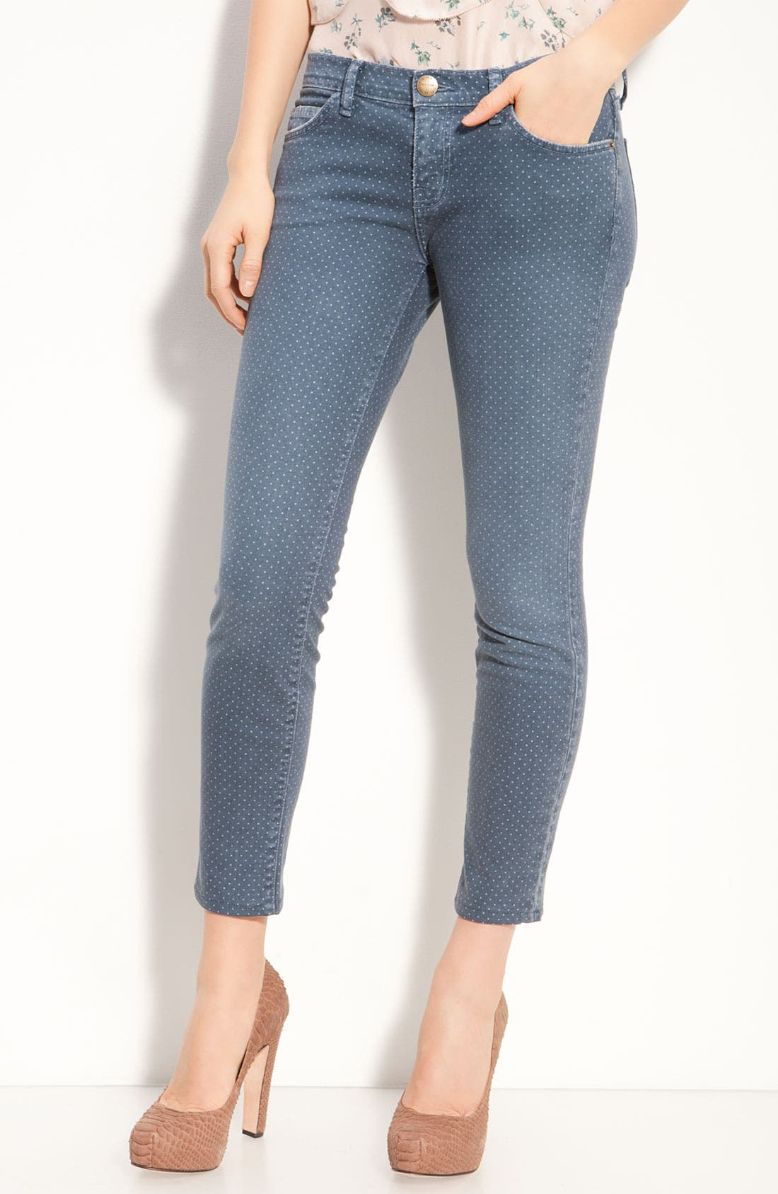 Main Image - Current/Elliott 'The Stiletto' Stretch Jeans (Lake Wash)