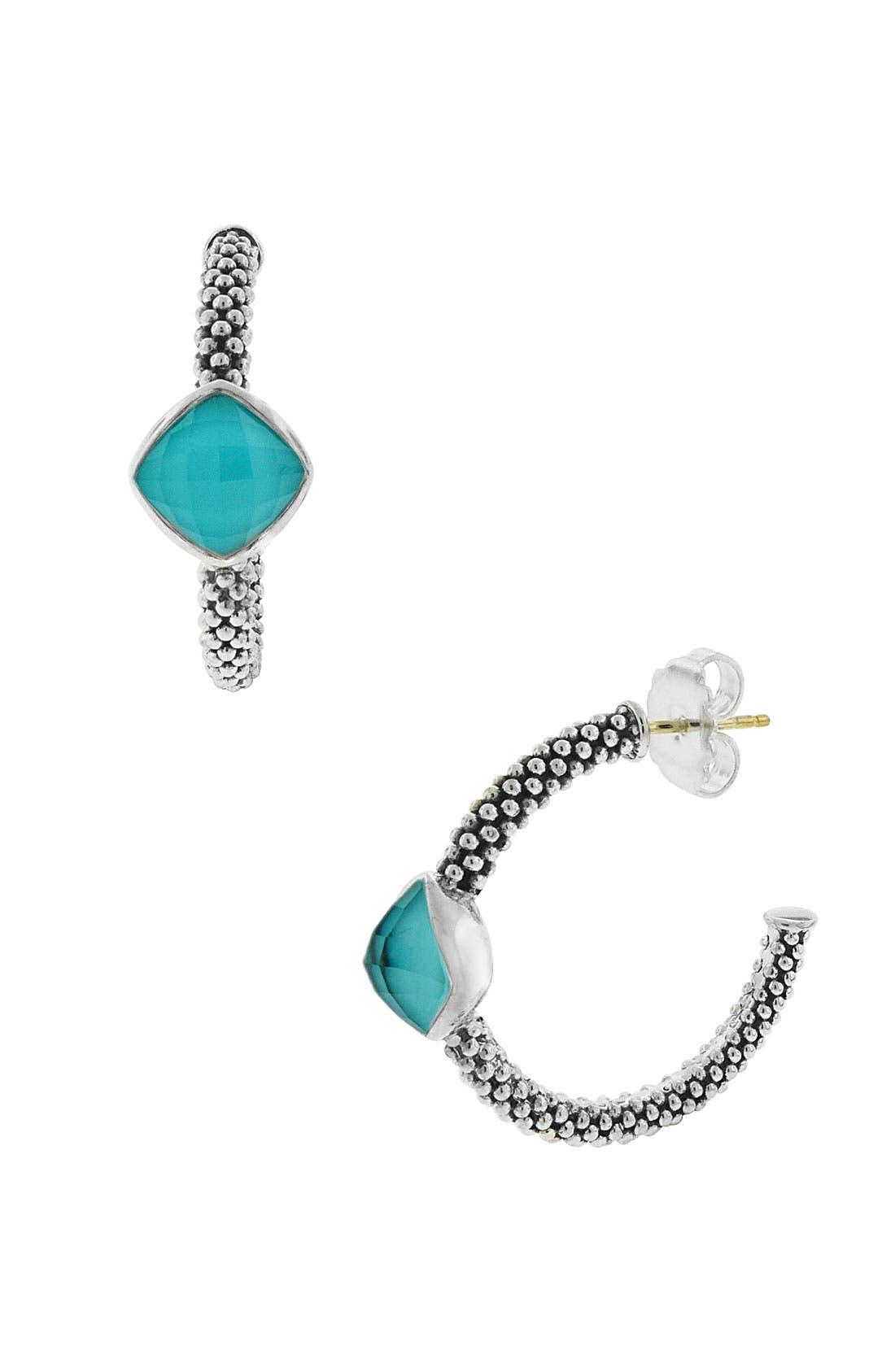 Alternate Image 1 Selected - LAGOS Caviar Hoop Earrings
