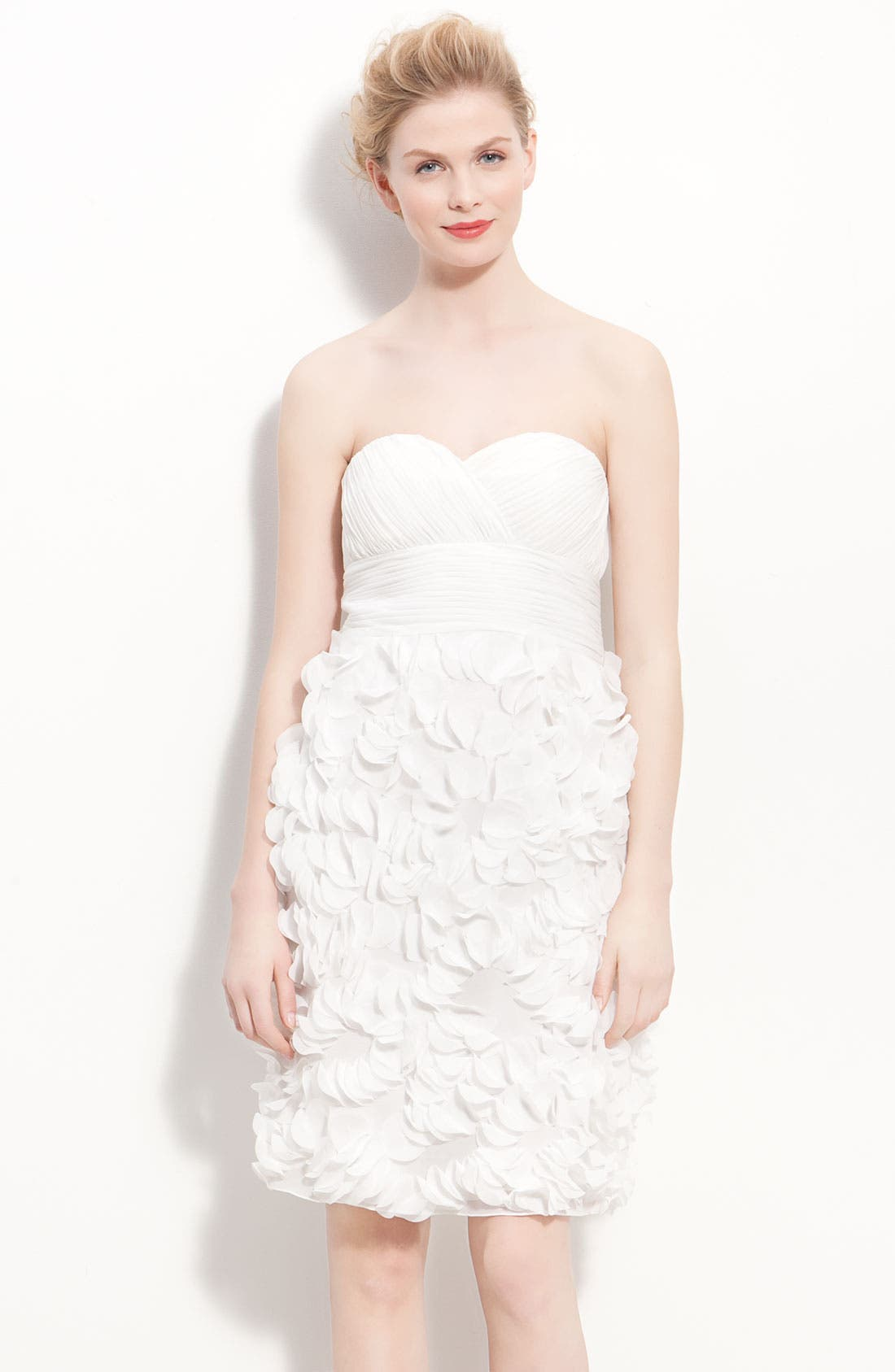 Alternate Image 1 Selected - JS Collections Chiffon Petal Strapless Sheath Dress