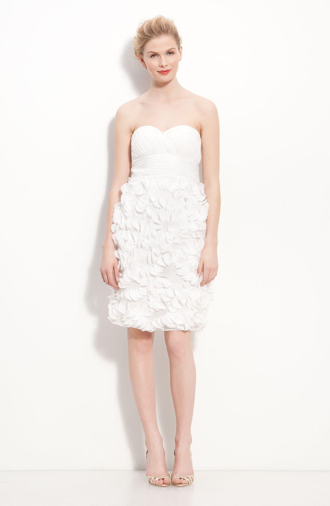 Alternate Image 5  - JS Collections Chiffon Petal Strapless Sheath Dress