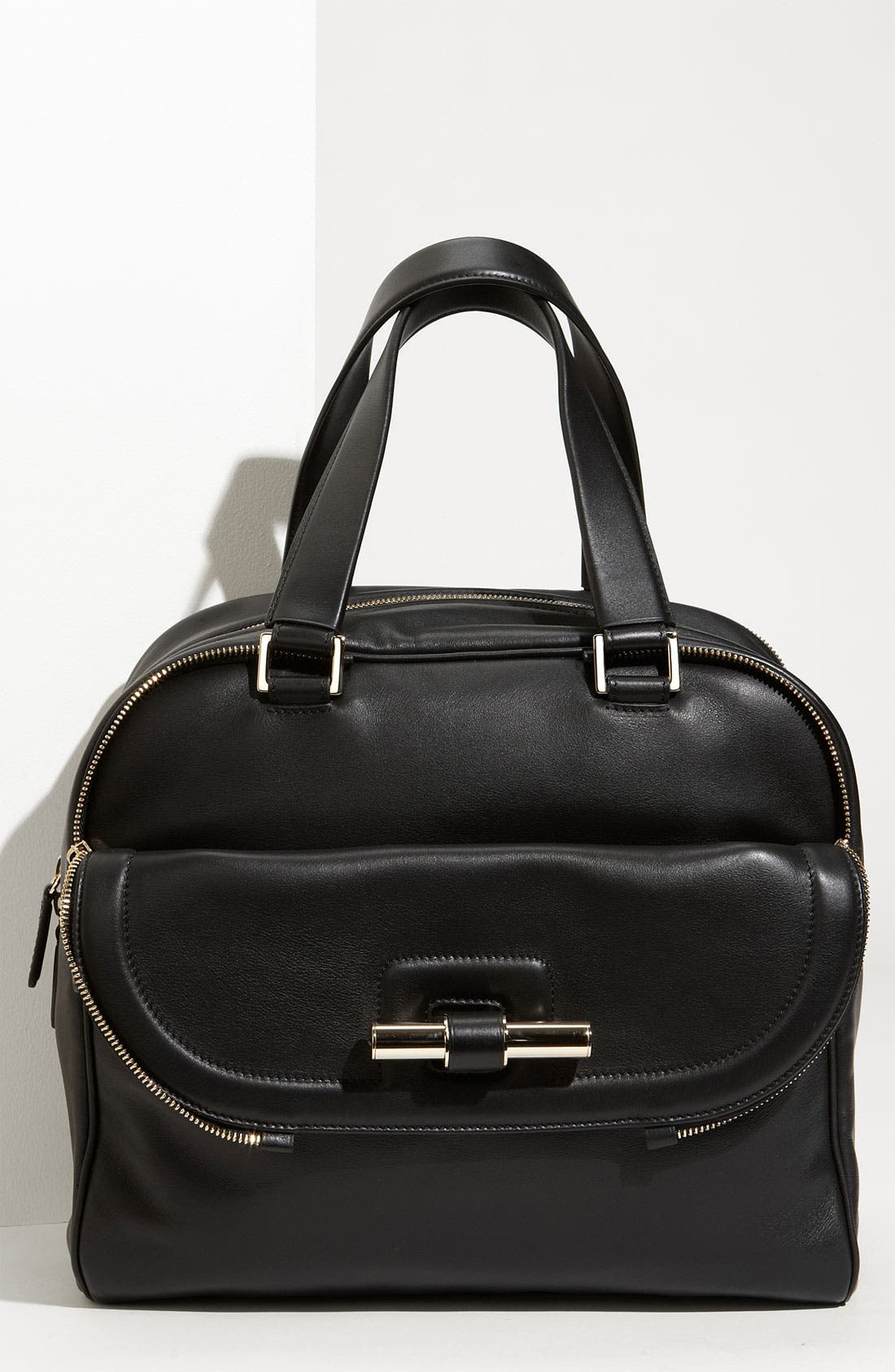 Main Image - Jimmy Choo 'Justine - Large' Leather Satchel