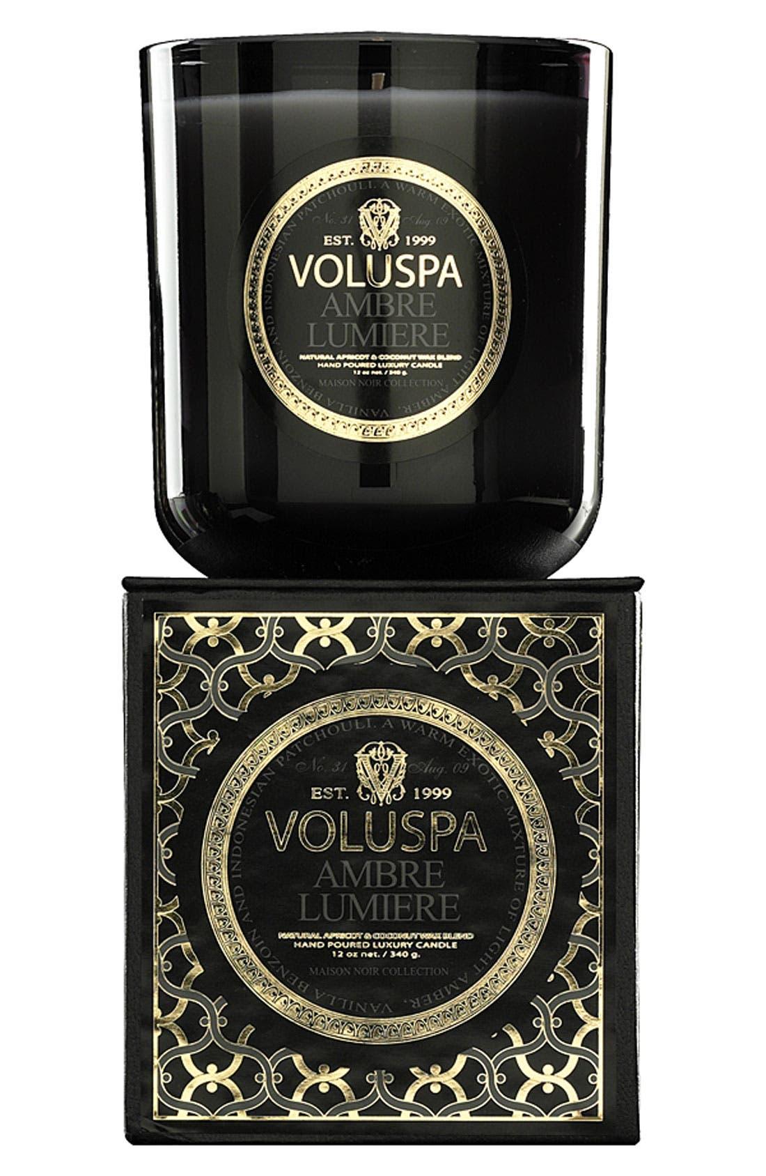 Alternate Image 1 Selected - Voluspa 'Maison Noir - Ambre Lumiere' Scented Candle