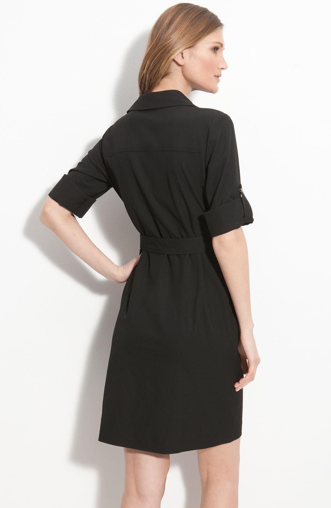 Alternate Image 2  - MICHAEL Michael Kors Roll Sleeve Belted Shirtdress (Regular & Petite)