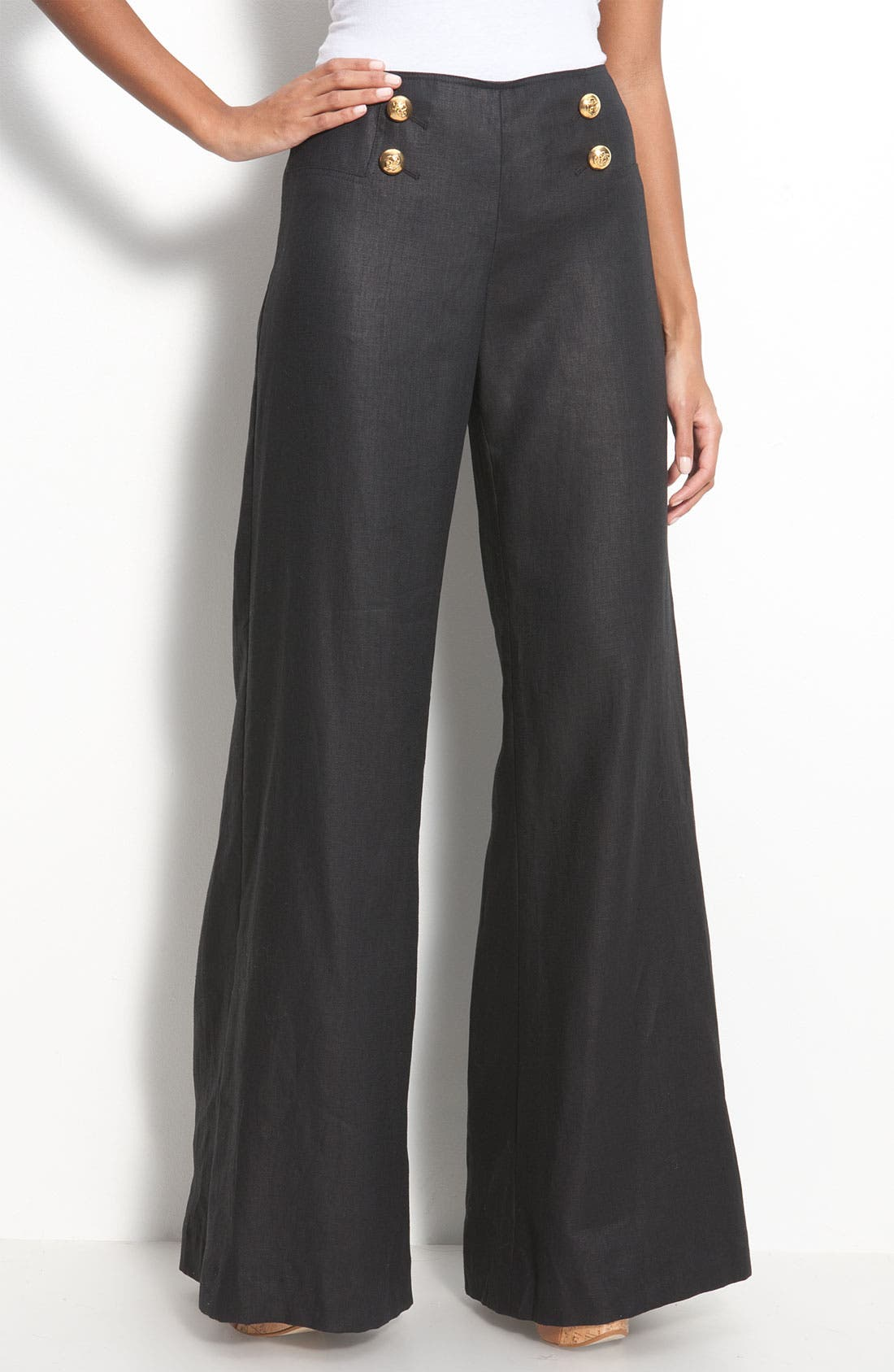 Alternate Image 1 Selected - Lafayette 148 New York 'Lavish Linen' Sailor Pants