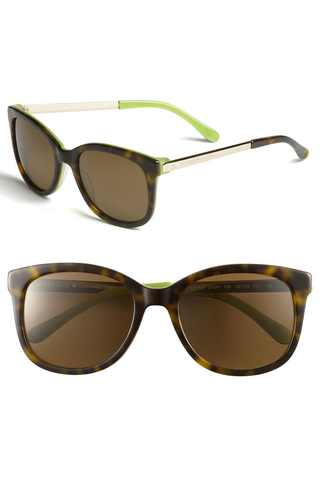Alternate Image 1 Selected - kate spade new york 'gayla' 52mm oversized polarized sunglasses