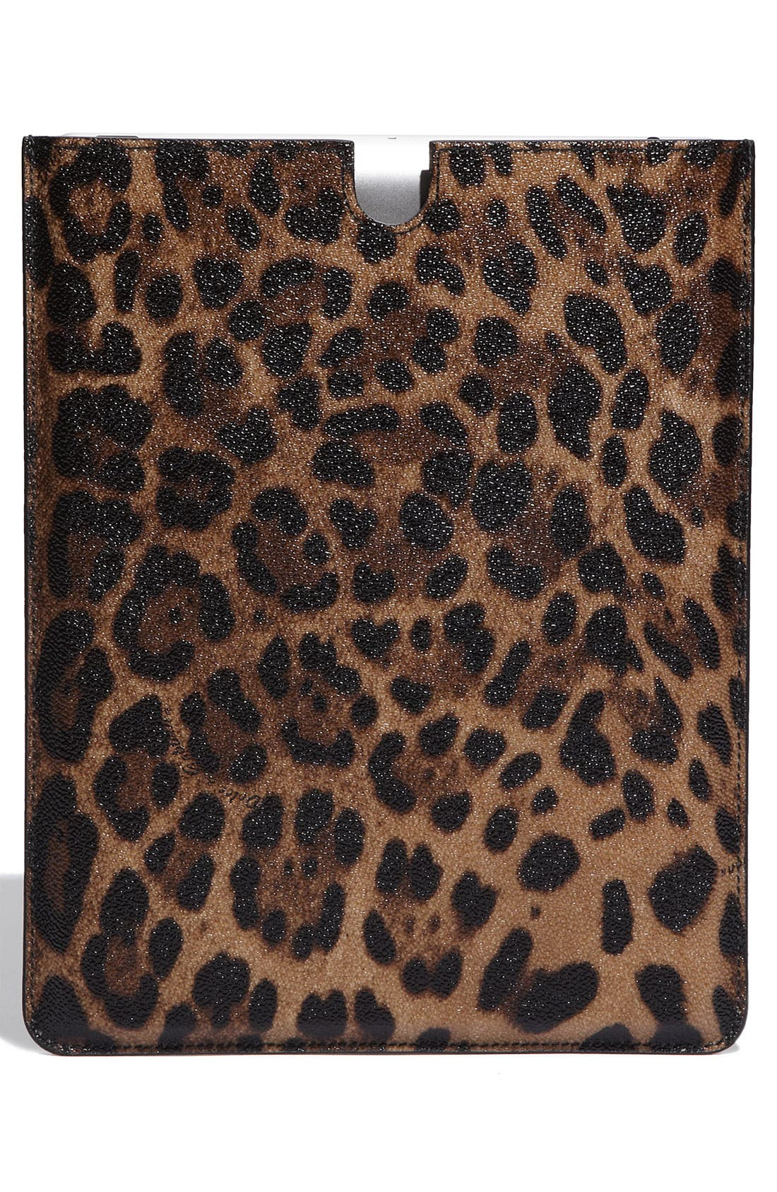 Alternate Image 4  - Dolce&Gabbana Leopard Print iPad Case