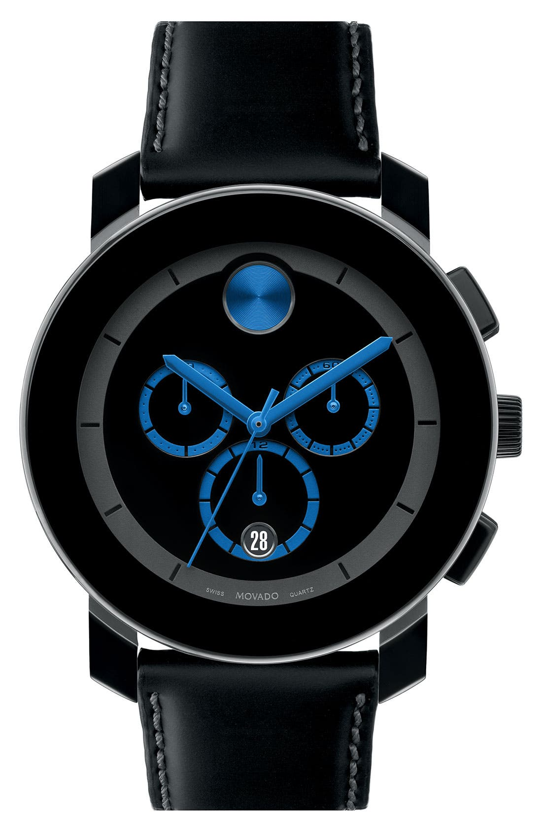 Main Image - Movado 'Large Bold Chrono' Watch, 43mm