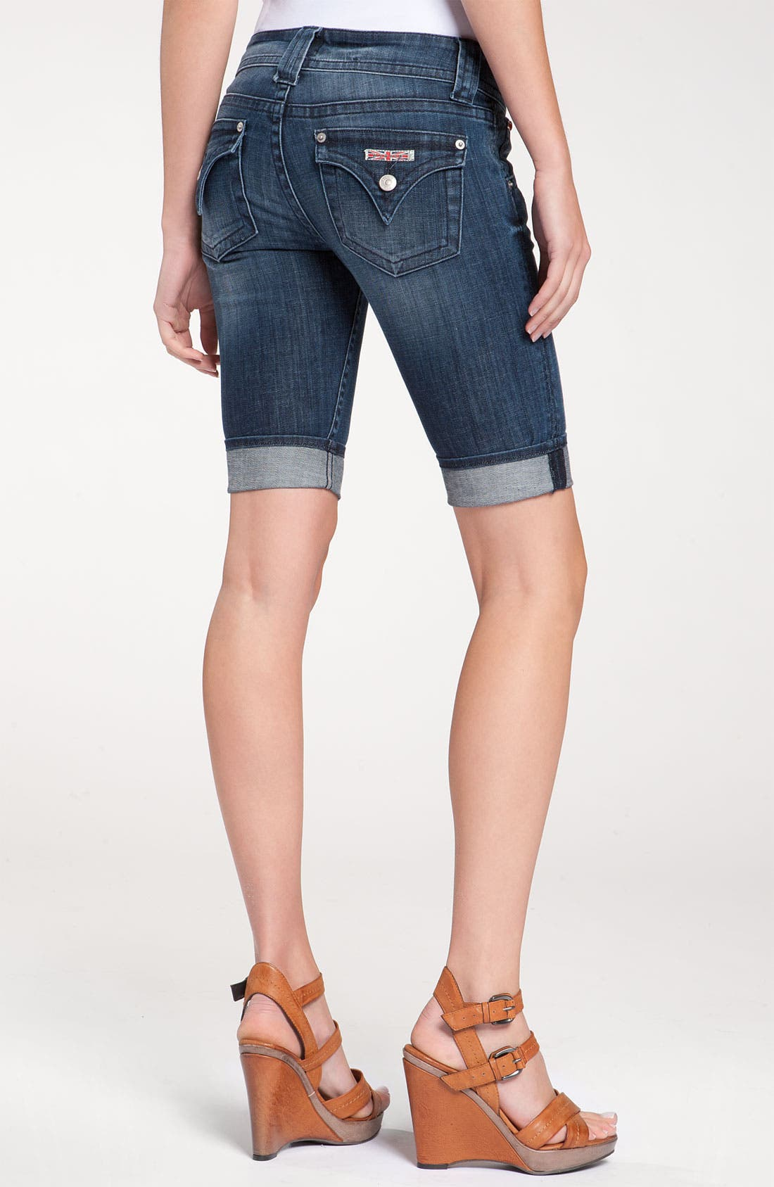 Alternate Image 1 Selected - Hudson Jeans 'Palerme' Cuff Bermuda Shorts (Nantucket Island Wash)