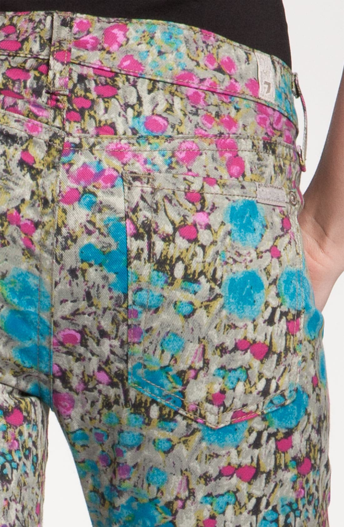 Alternate Image 3  - 7 For All Mankind® 'The Skinny' Print Jeans (Garden Party Floral)