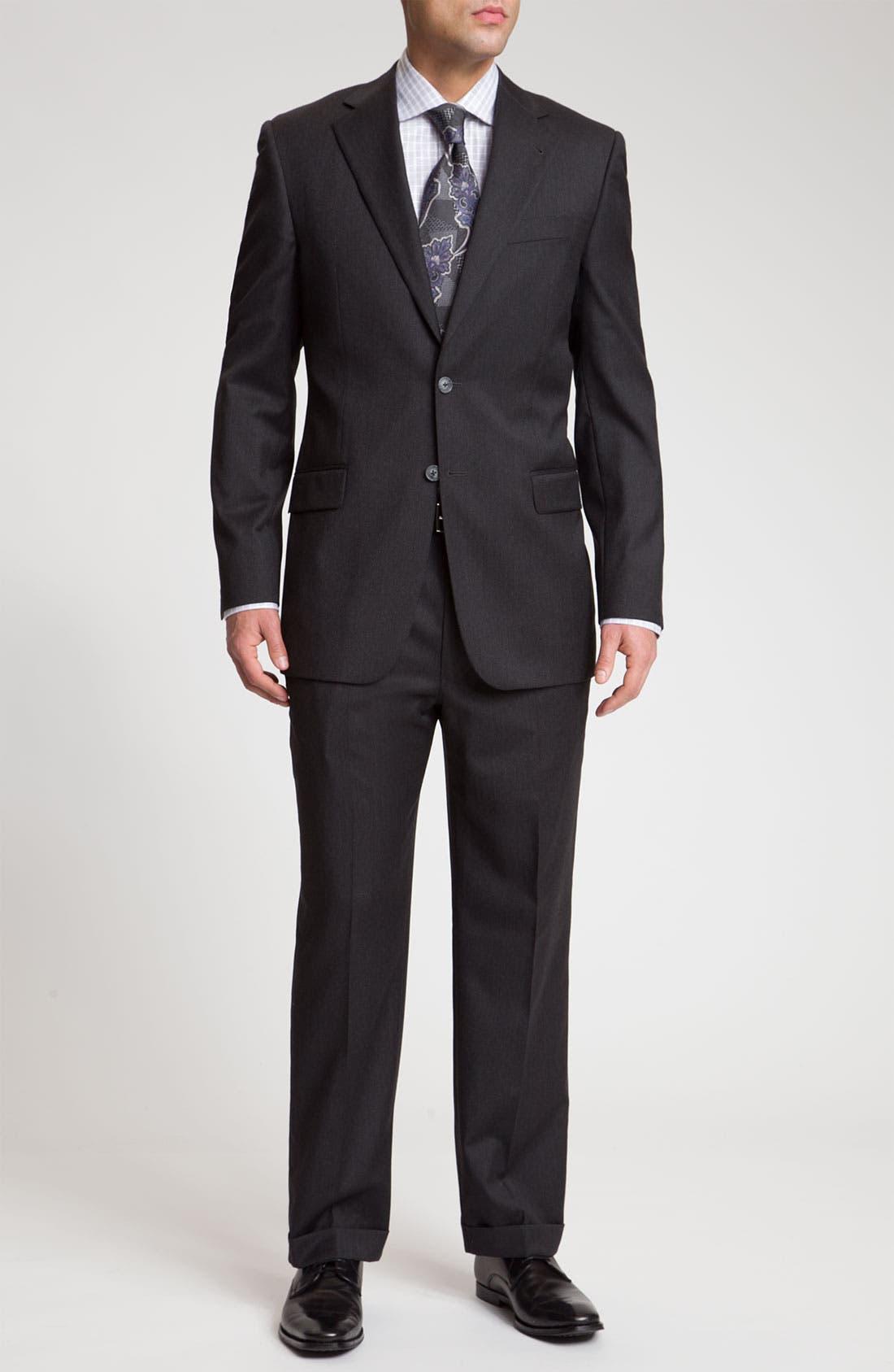 Alternate Image 2  - Joseph Abboud 'Signature Silver' Dark Grey Wool Suit