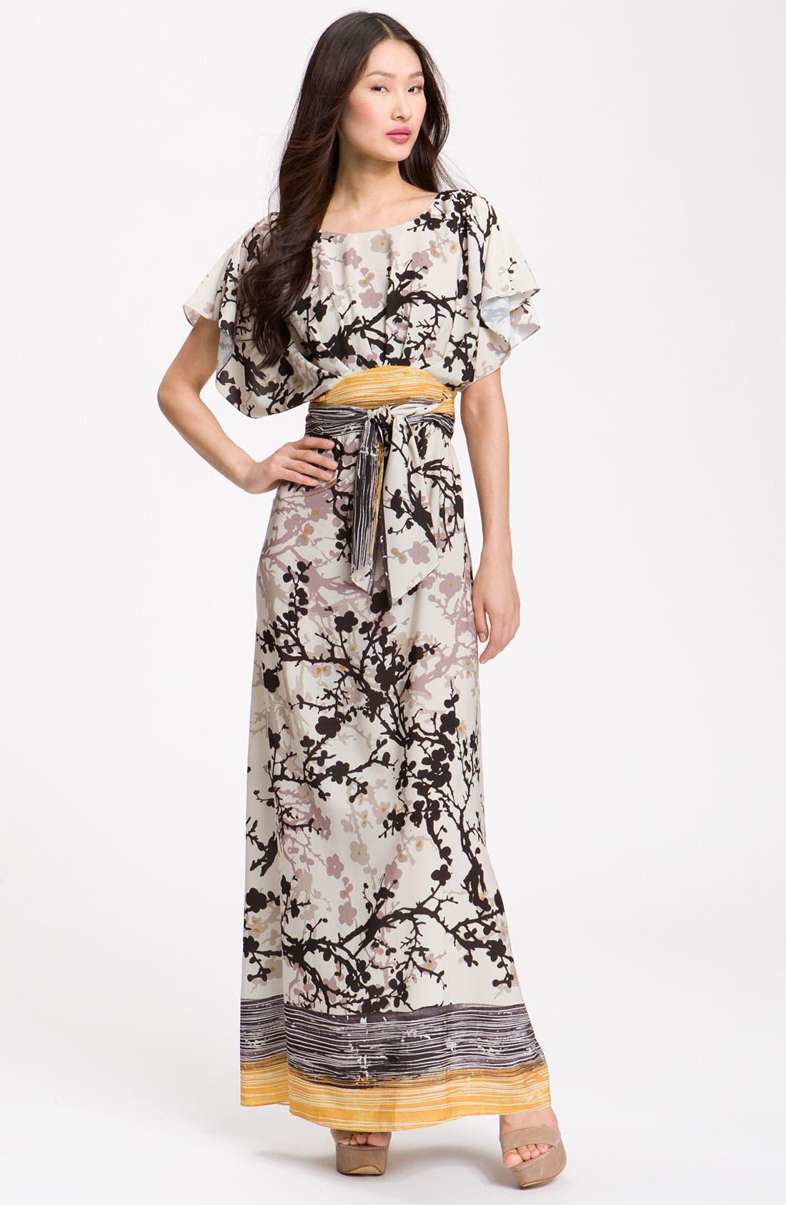 Alternate Image 1 Selected - Suzi Chin for Maggy Boutique Crêpe de Chine Maxi Dress
