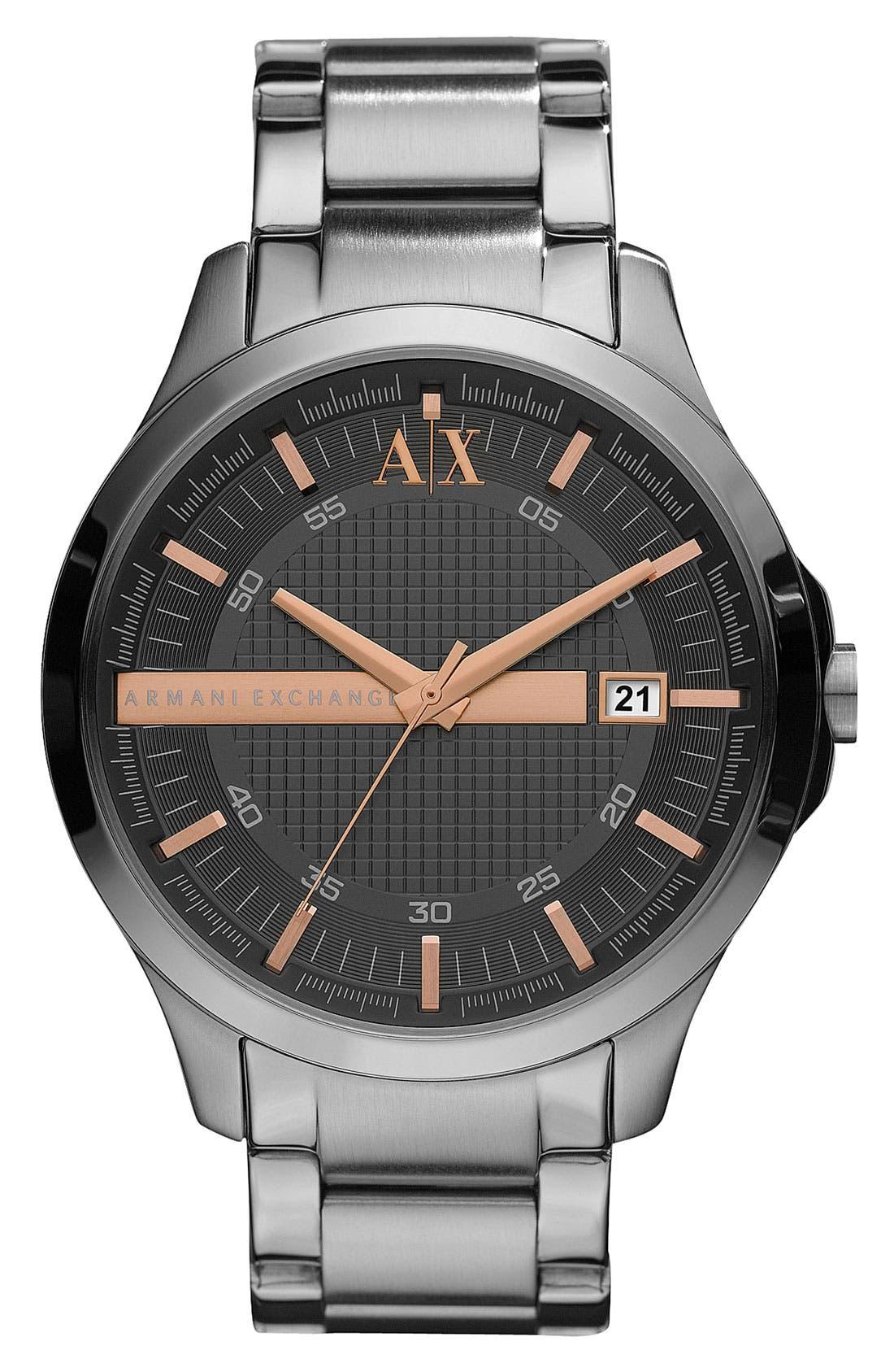 Alternate Image 1 Selected - AX Armani Exchange Bracelet Watch, 46mm