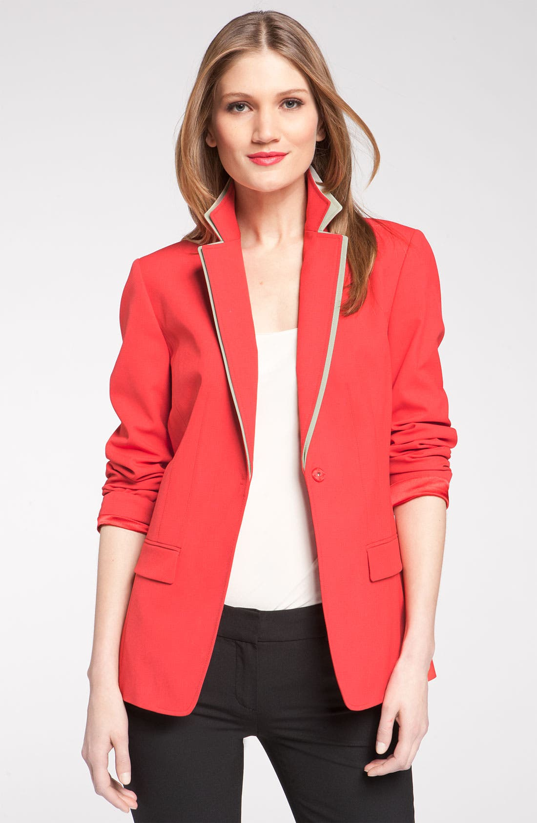 Alternate Image 2  - Elie Tahari Exclusive for Nordstrom 'Melissa' Contrast Trim Jacket (Nordstrom Exclusive)