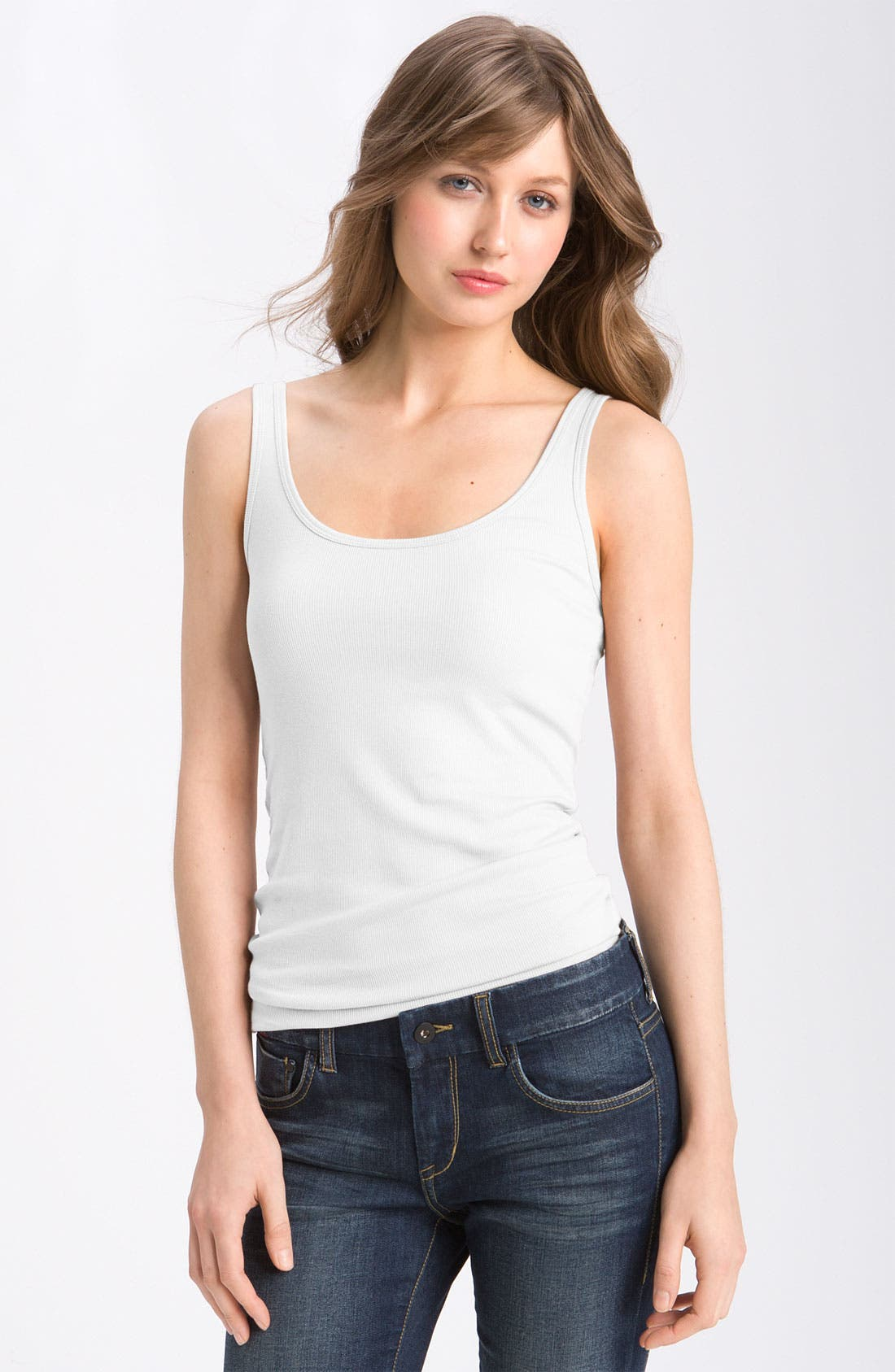 Alternate Image 1 Selected - Caslon® Ribbed Tank