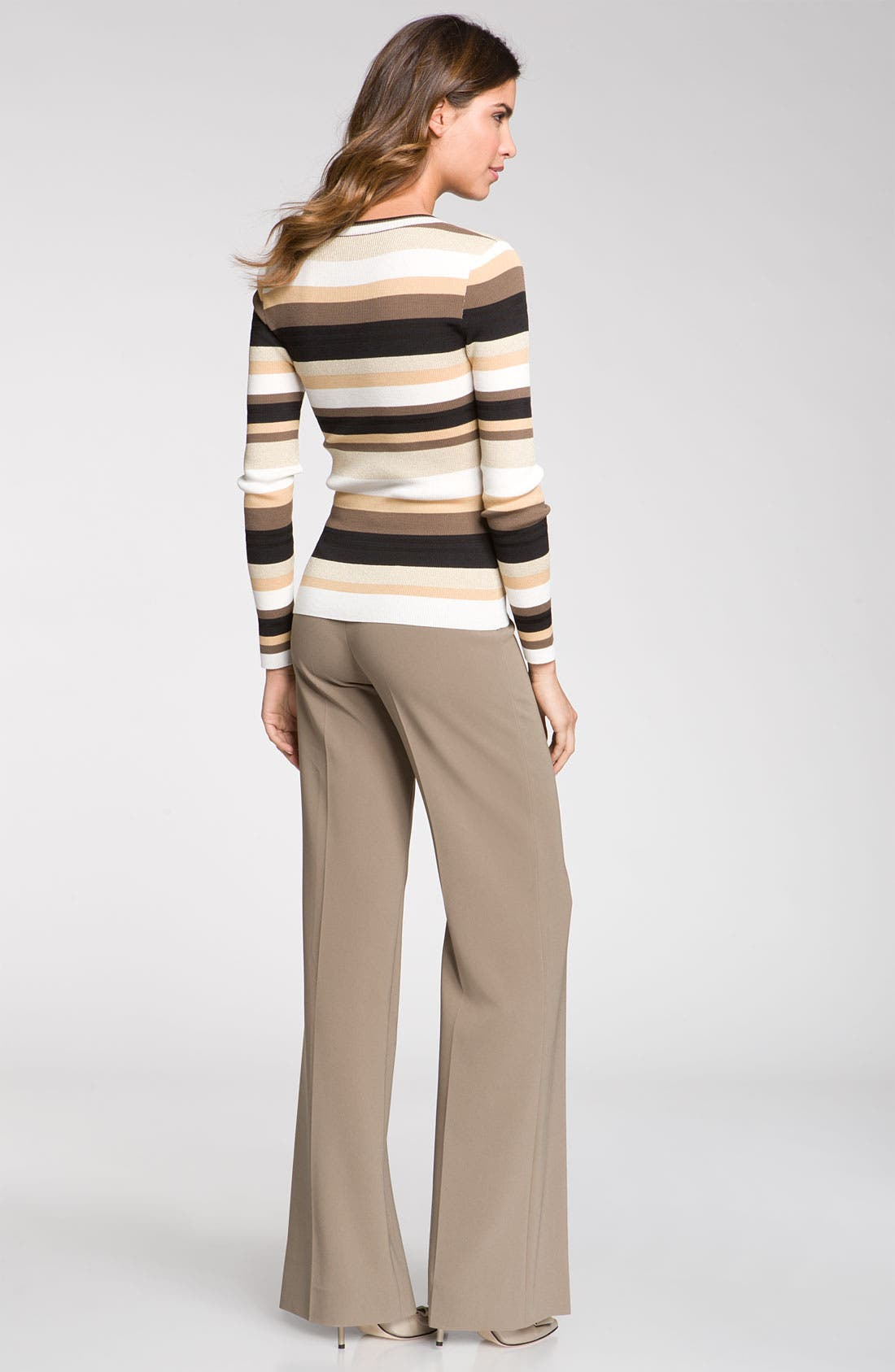 Alternate Image 5  - St. John Collection Stripe Scoop Neck Sweater