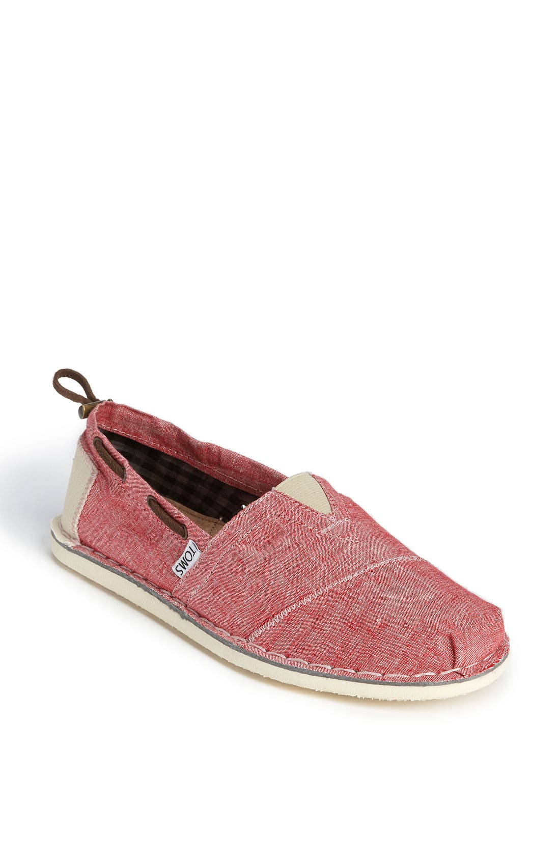 Alternate Image 1 Selected - TOMS 'Bimini - Stitchout' Chambray Slip-On (Men)