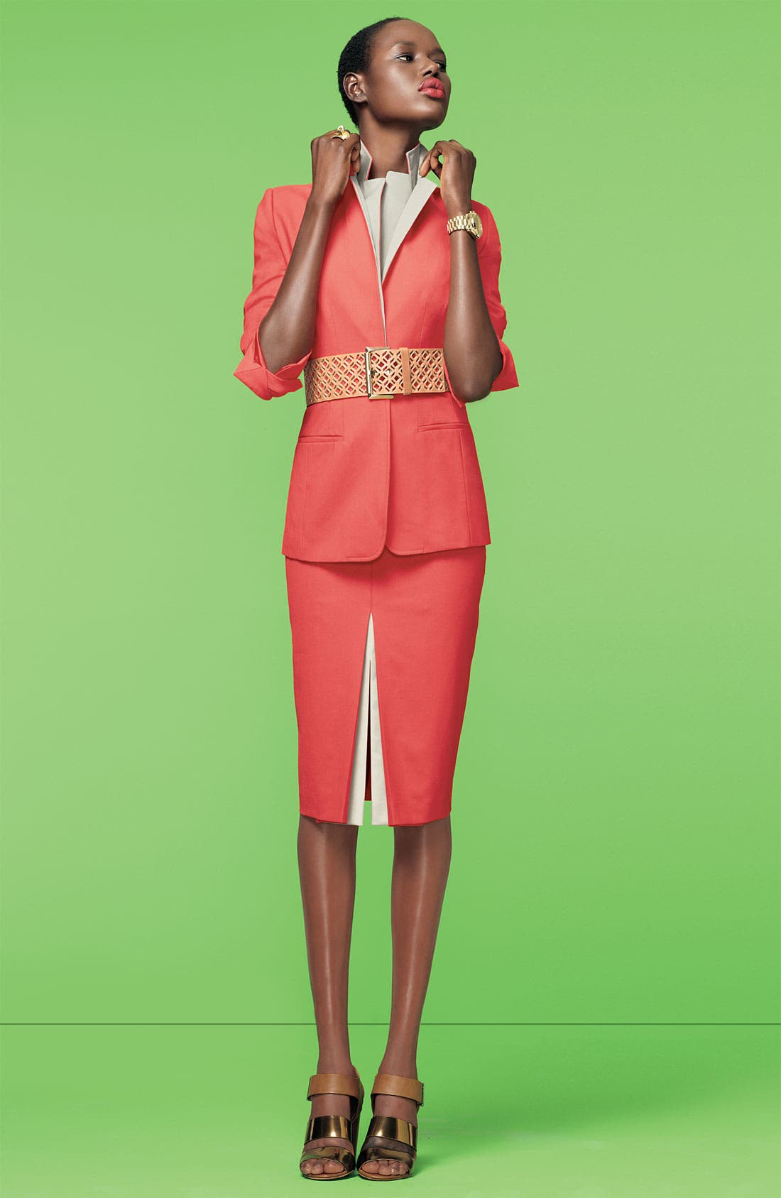 Alternate Image 3  - Elie Tahari Exclusive for Nordstrom 'Melissa' Contrast Trim Jacket (Nordstrom Exclusive)