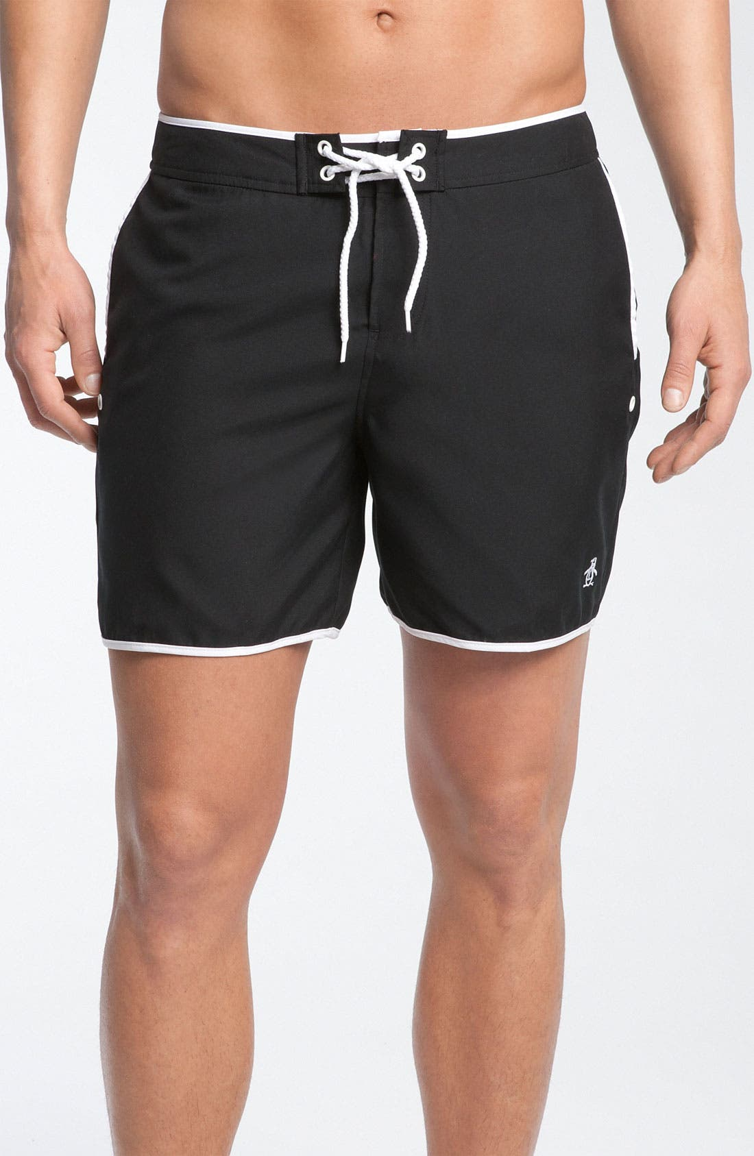 Main Image - Original Penguin Solid Volley Swim Shorts