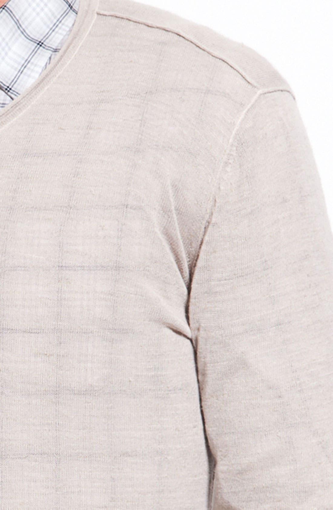 Alternate Image 2  - John Varvatos Star USA Ribbed V-Neck Sweater