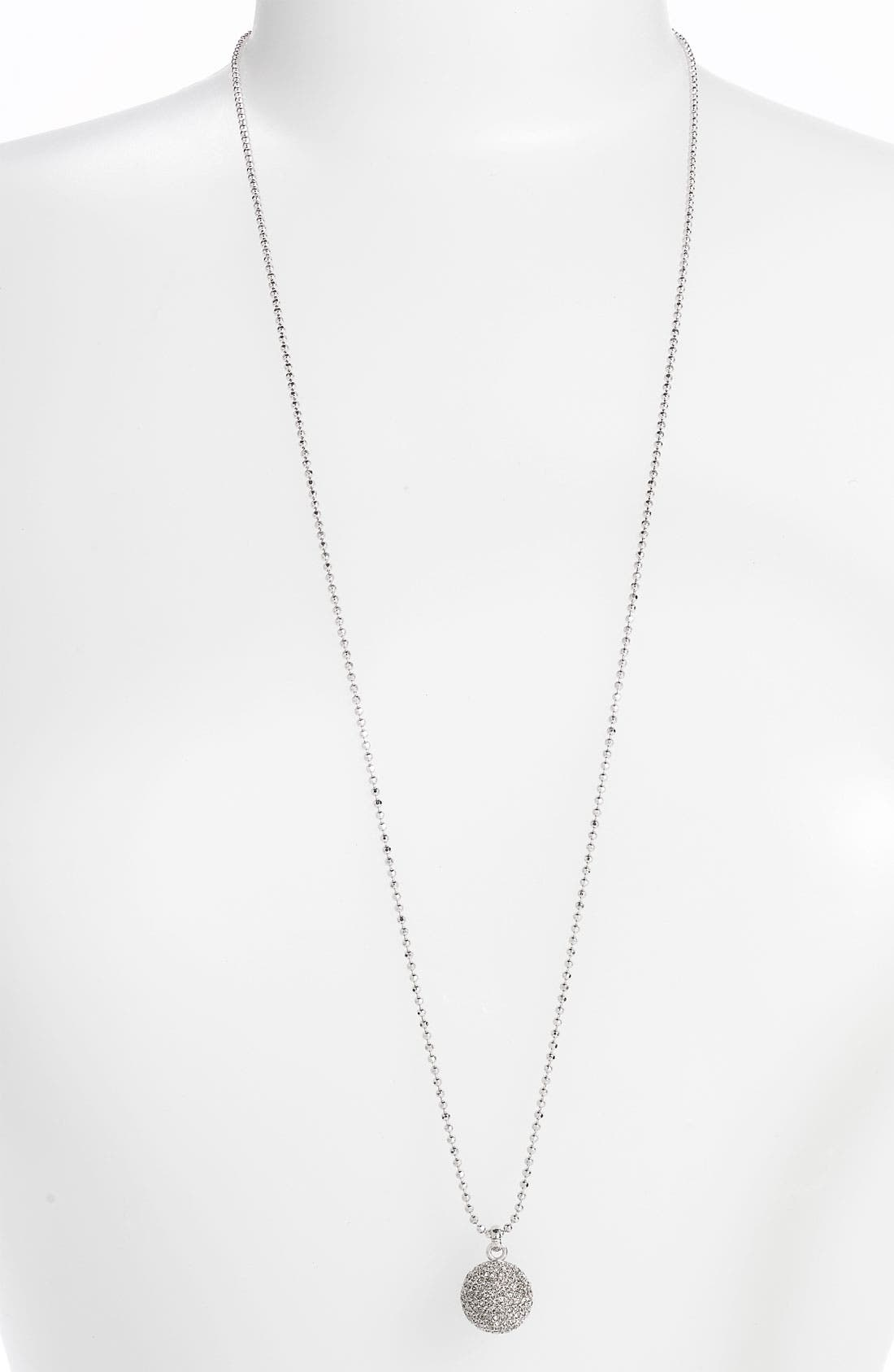 Alternate Image 1 Selected - Michael Kors Pavé Ball Long Necklace